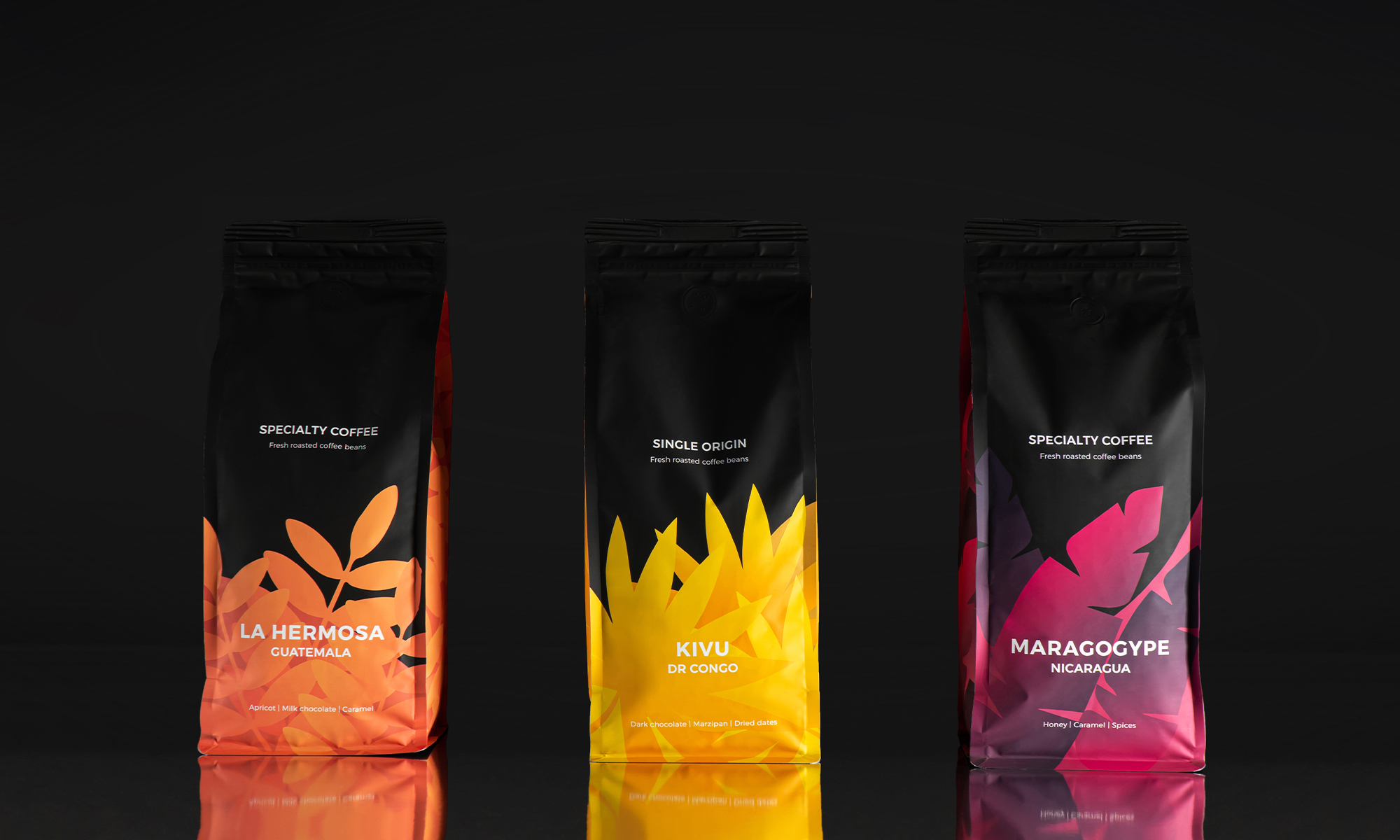 In-house Design Team Redesign of Coffee Mate Group Specialty Coffee Packaging