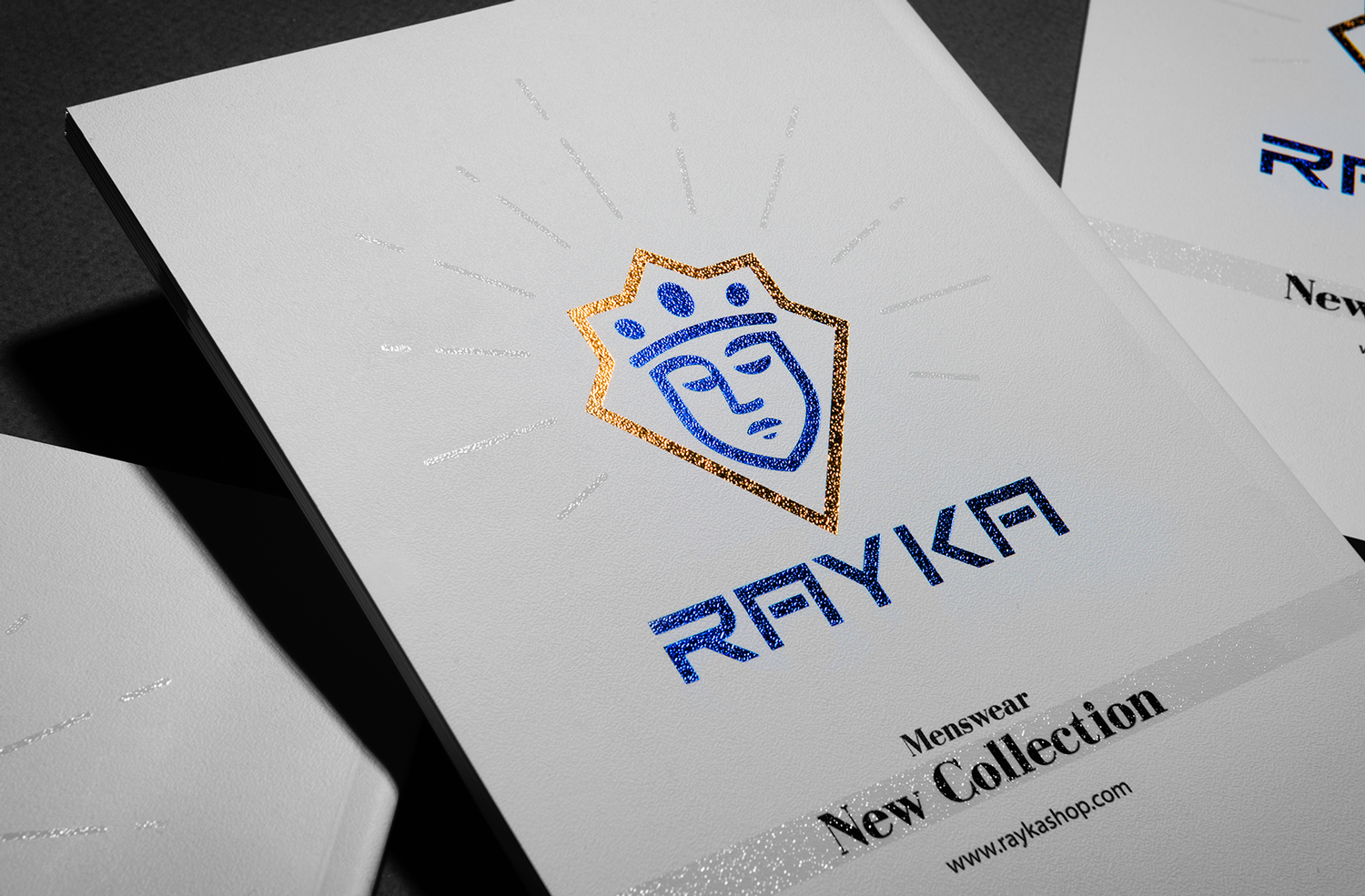 Logo and Visual Identity for Rayka Men's Clothing Brand Designed by Studio Segal