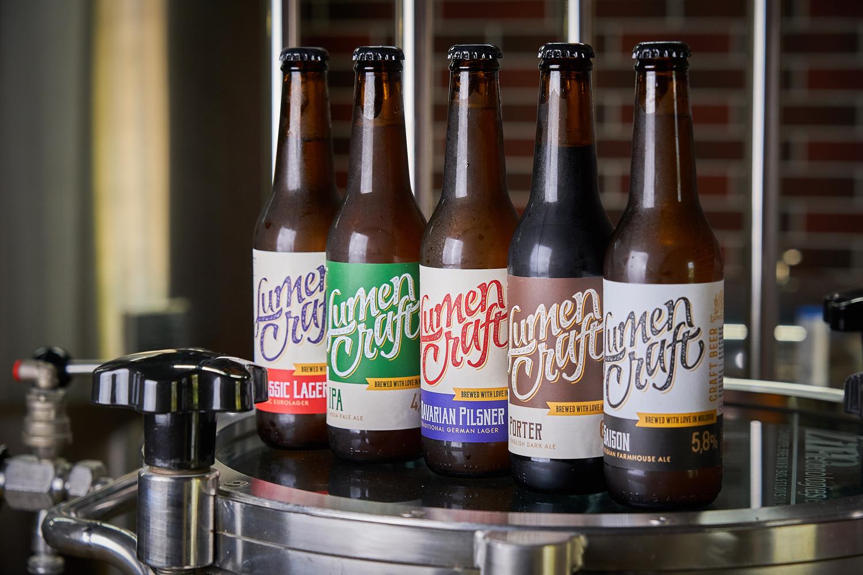 Craft Beer Label Design for LumenCraft Designed by 43oz Design Studio