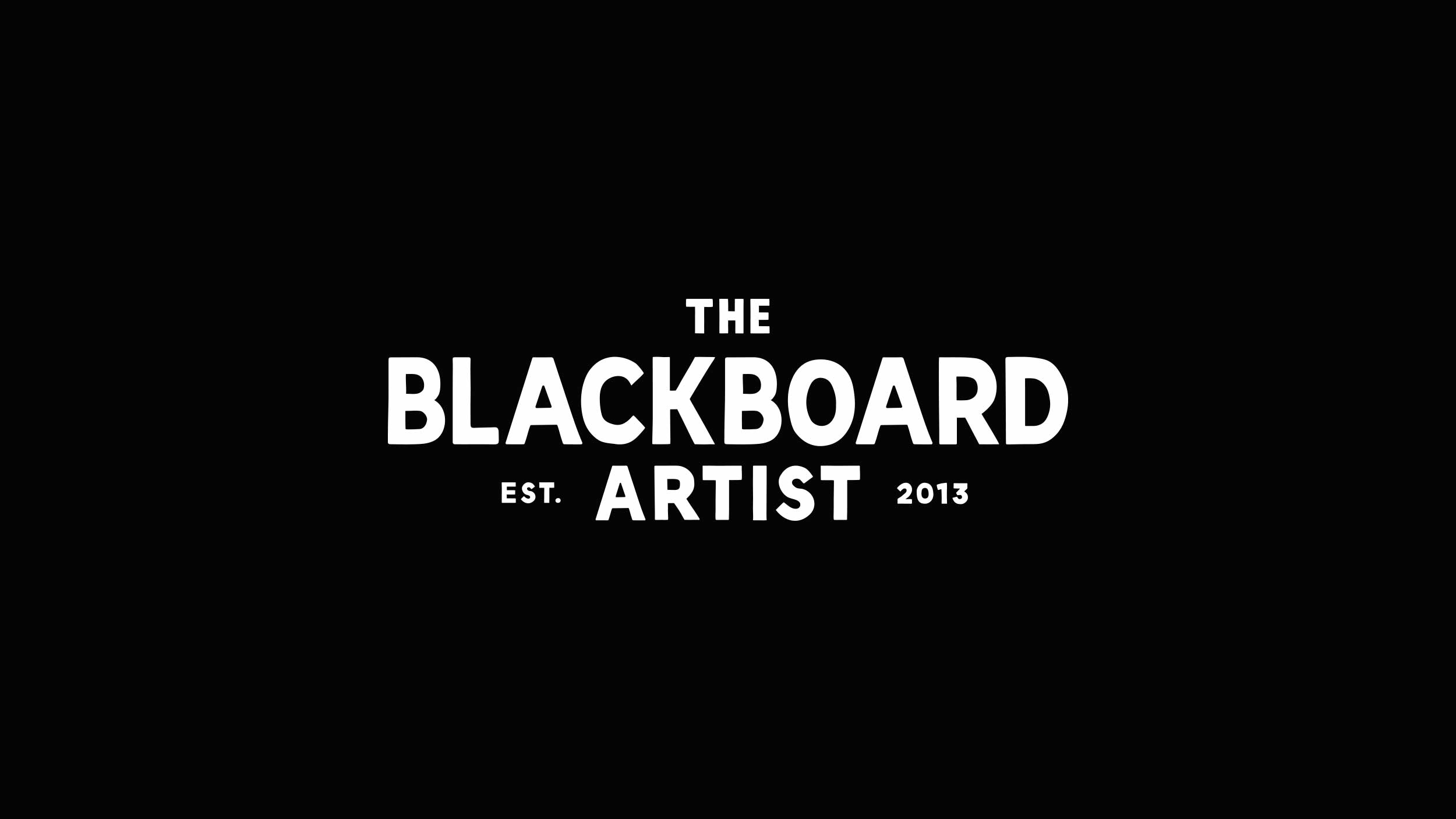 London Design Agency Boldly Creates Brand for The Blackboard Artist
