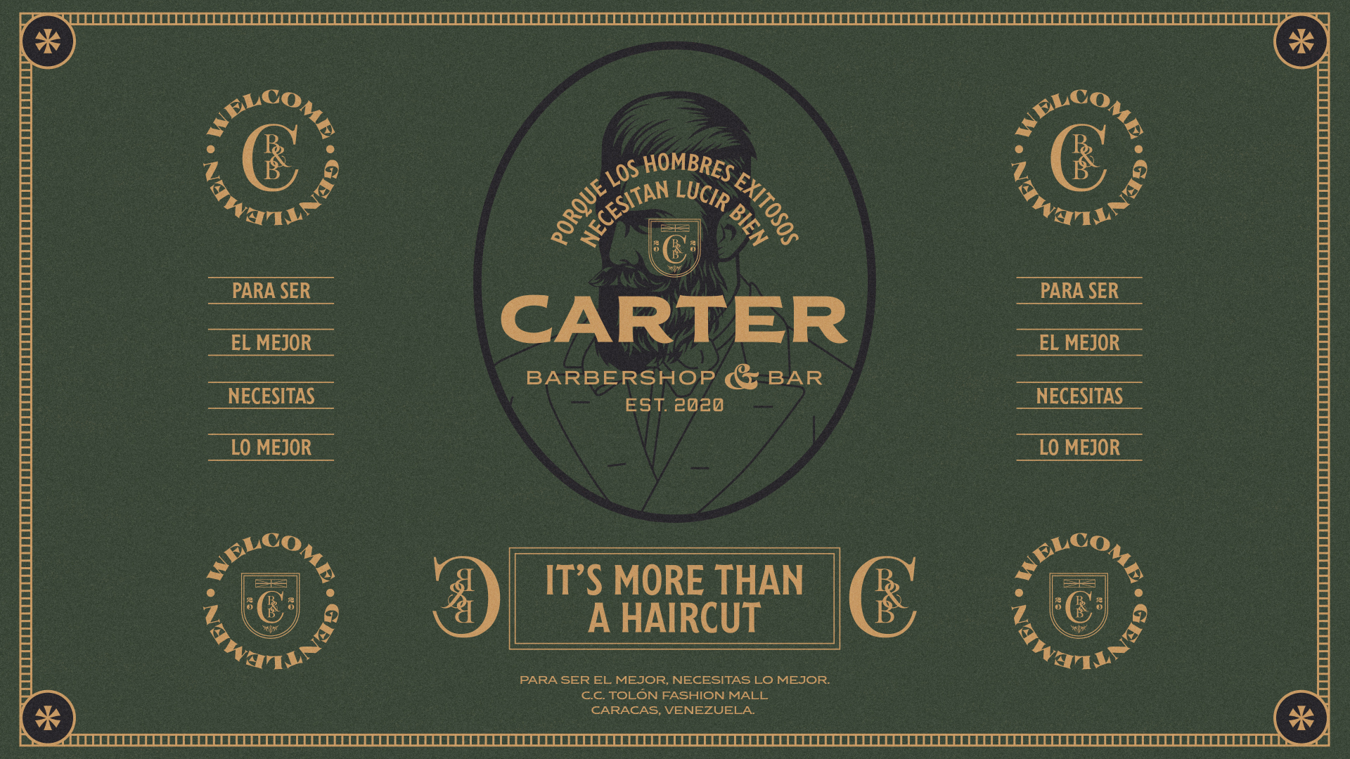 Carter Barbershop & Bar Brand Strategy and Visual Identity by Gabsuthe