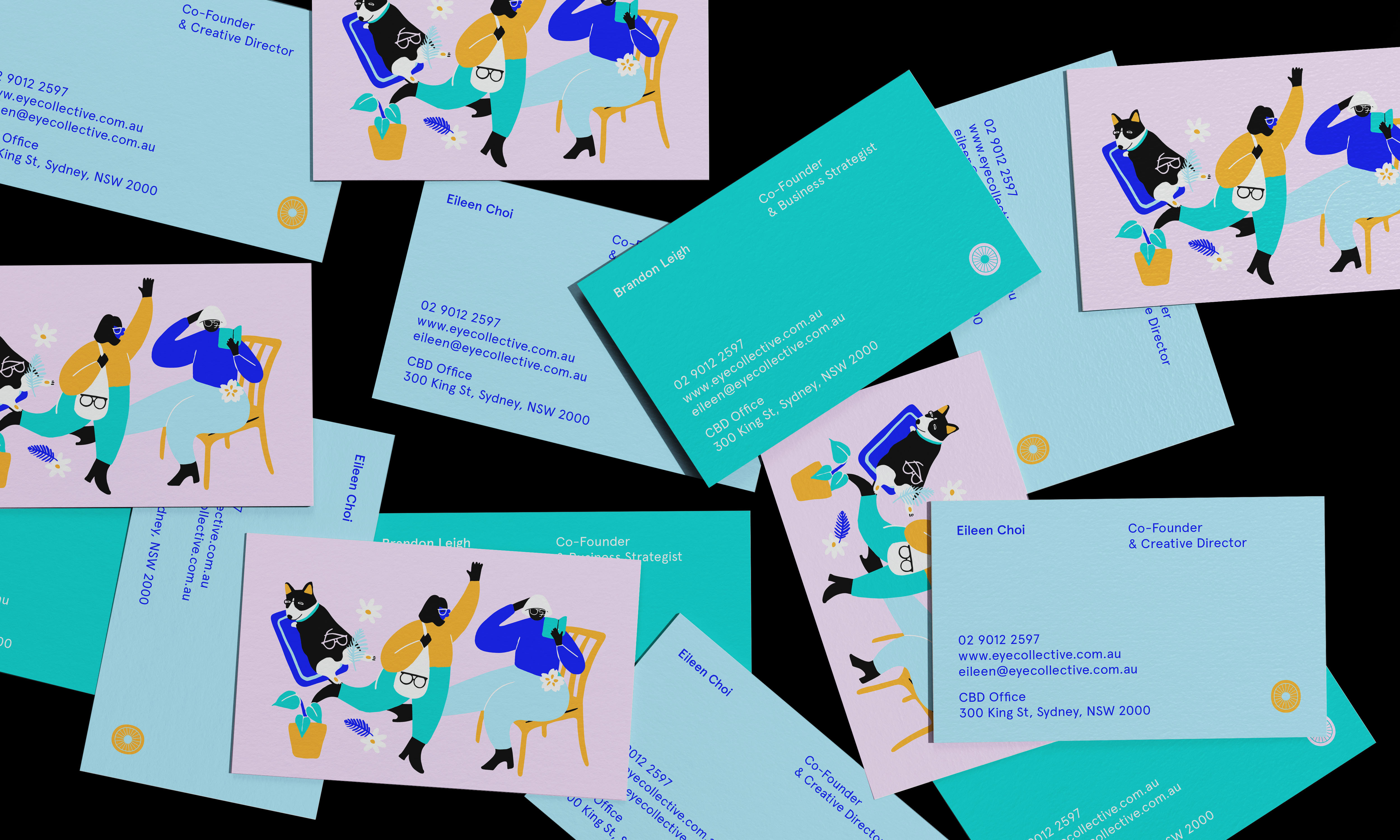Ticky Lan Creates Concept Branding and Illustration for Eye Collective