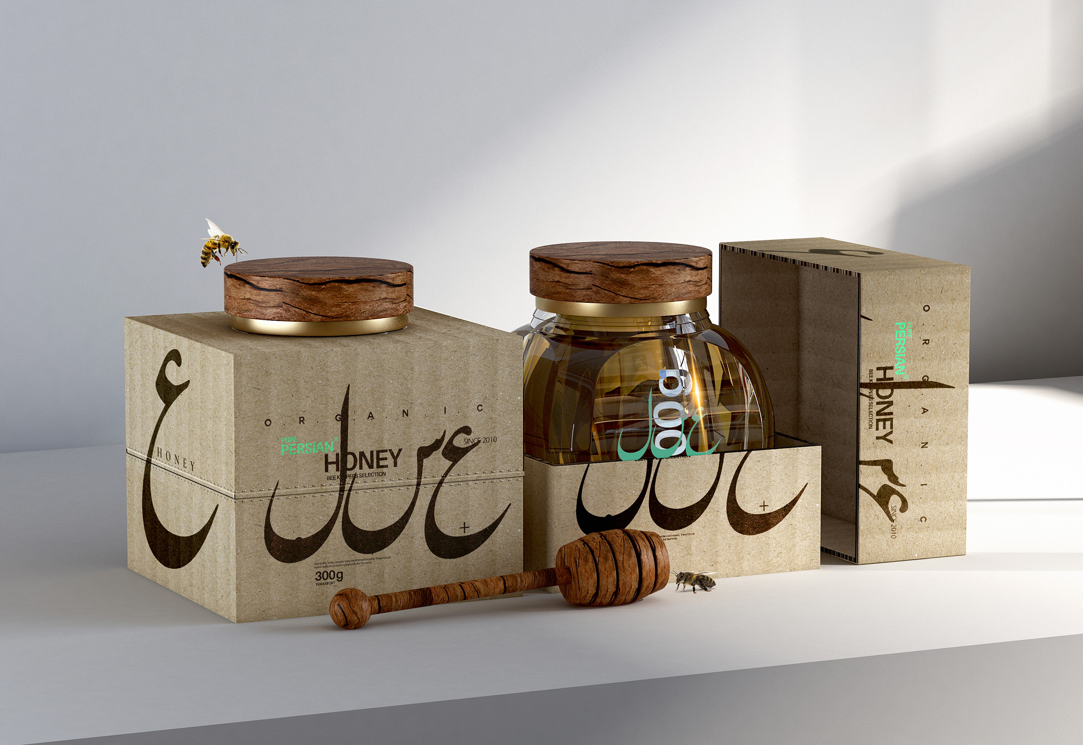 Taha Fakouri Creates Concept for New Pure Persian Honey Packaging Design