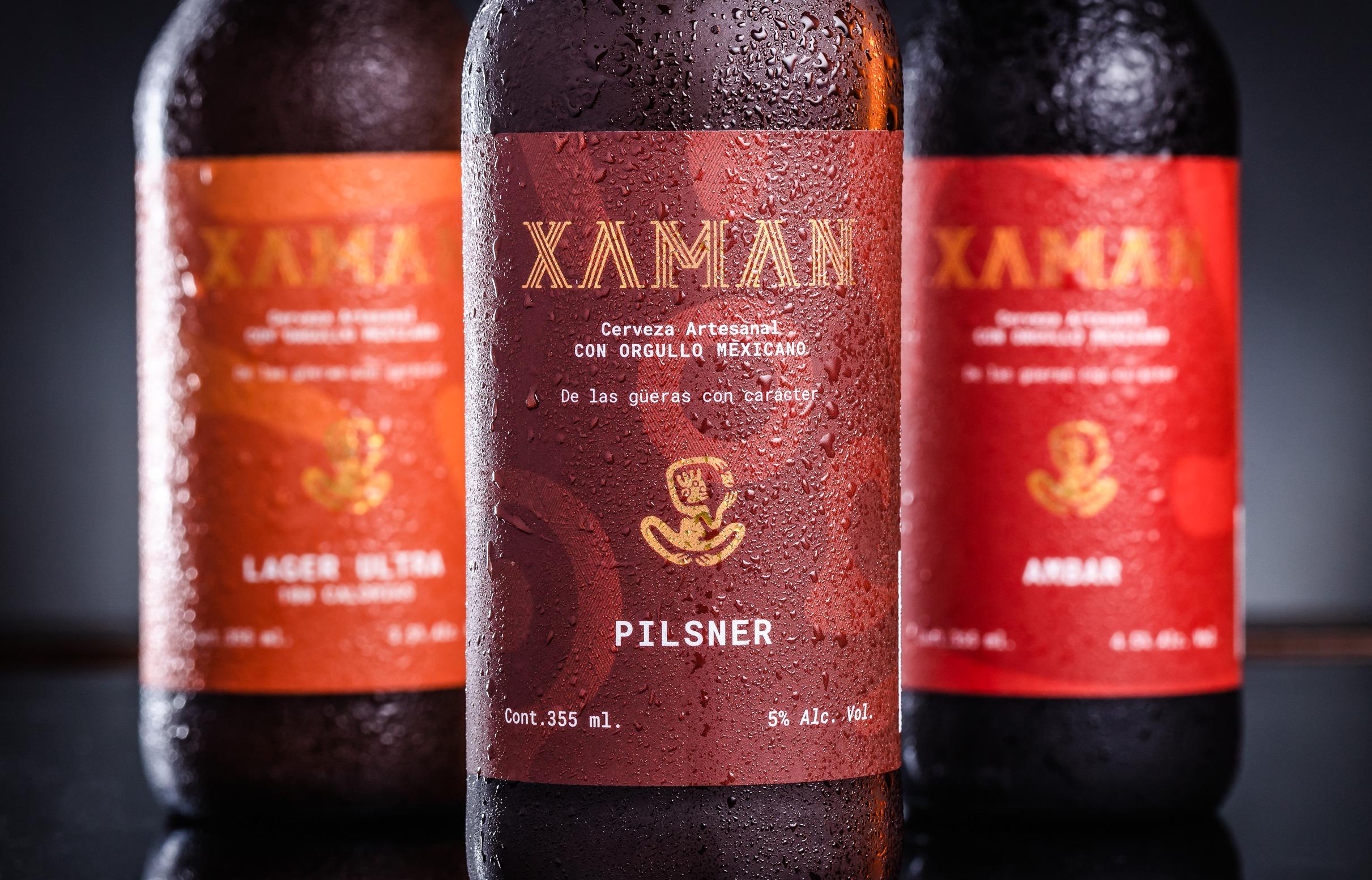 Xaman Beer Branding Designed by by Estudio Manila