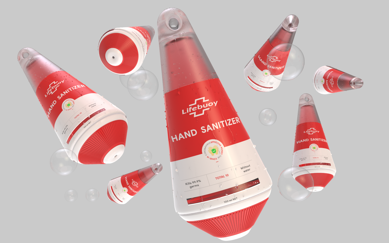 New Lifebuoy Hand Sanitizer Student Packaging Design Concept