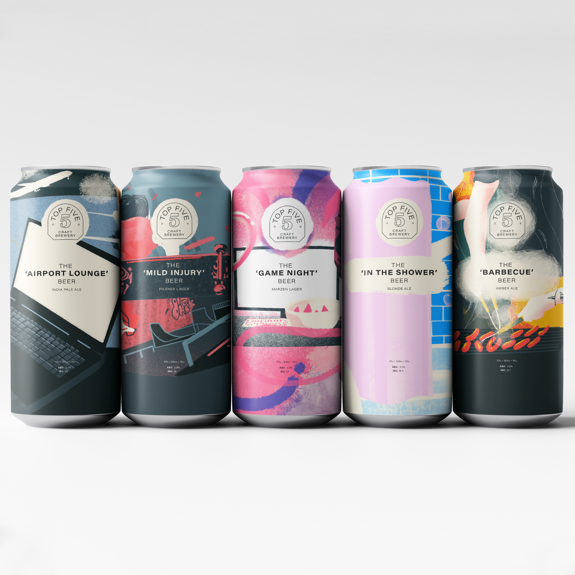 Iskelet Design's a Brand and Packaging Concept for Top Five Brewery