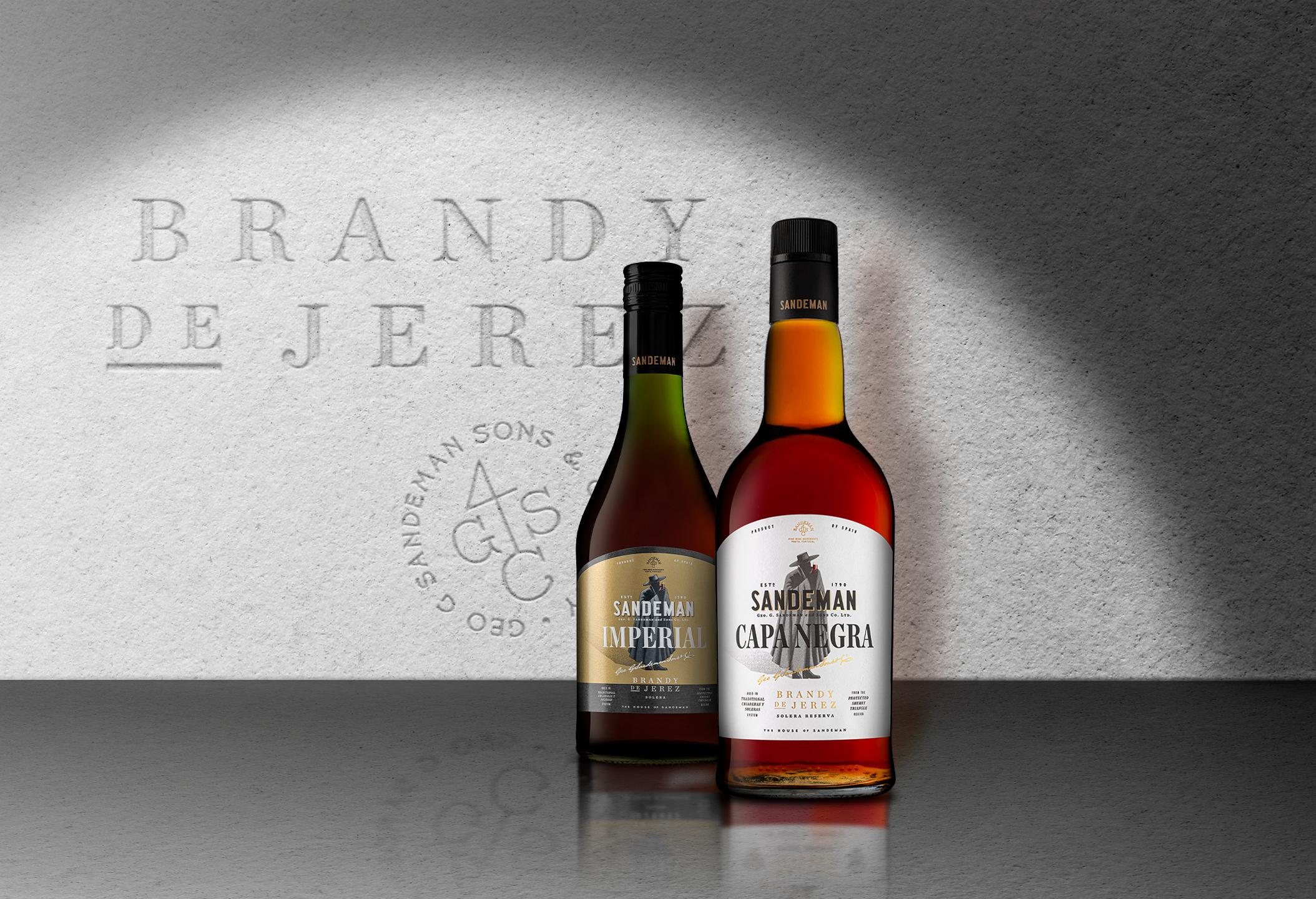 The New Sandeman Brandies by Volta Studio