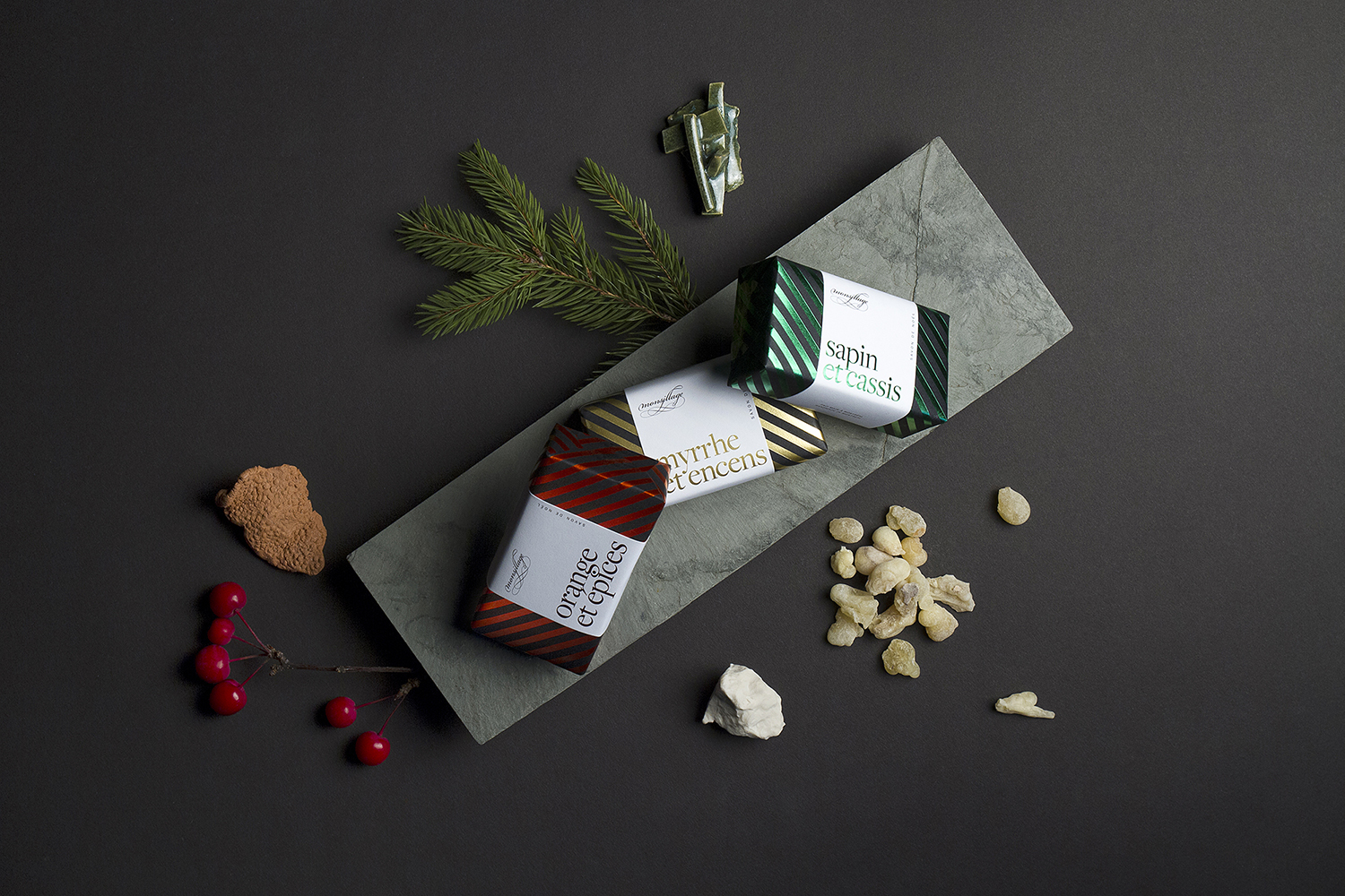 byHAUS Creates Design for Monsillage Xmas Soap Packaging