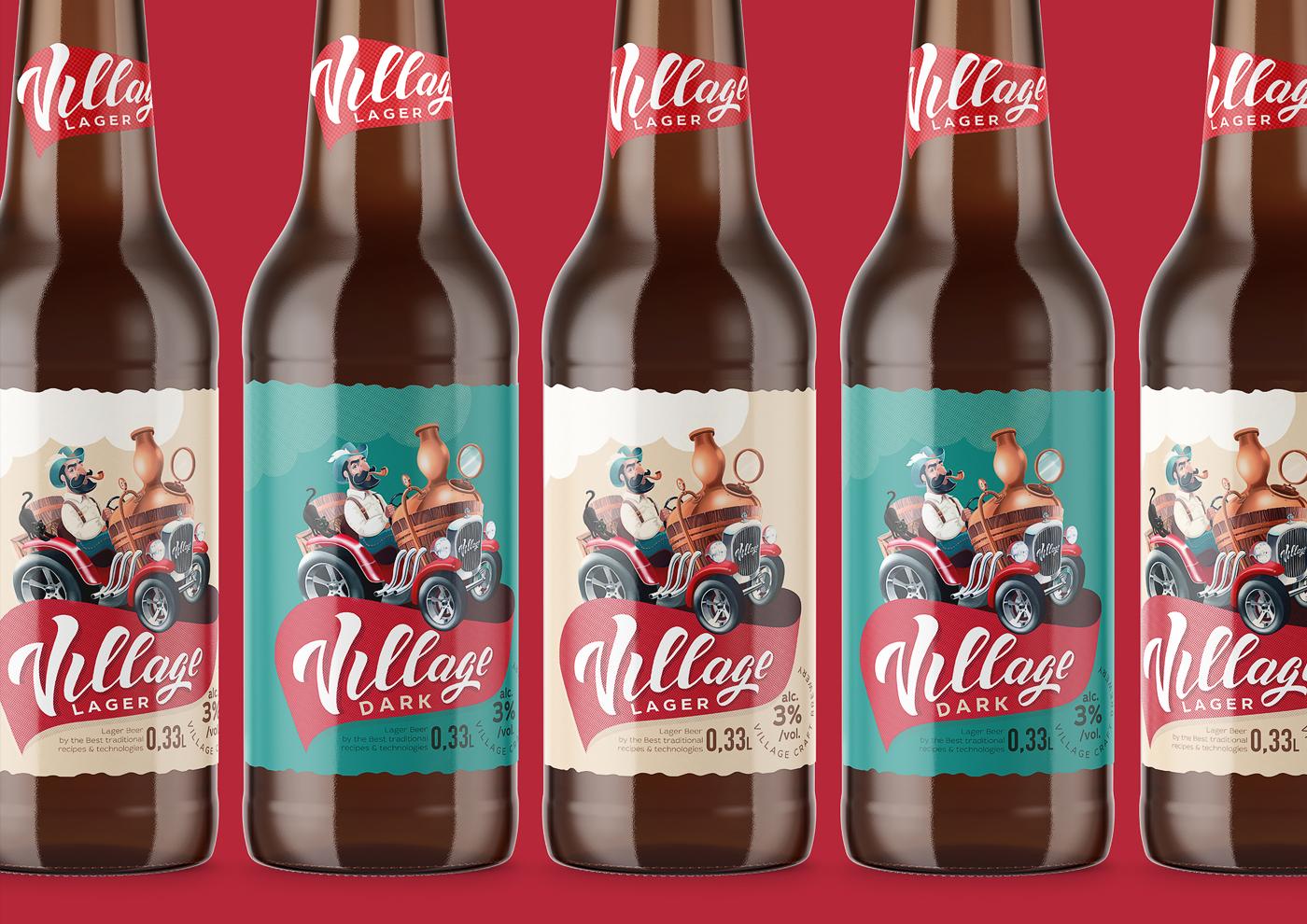 Village Brewery Packaging Design Project Designed by Shkriblyak Design Studio