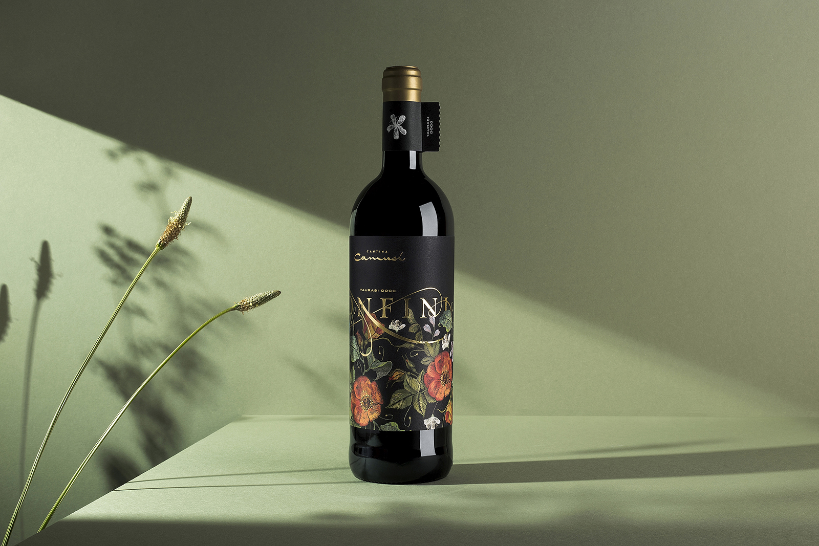 Confini Wine Label Designed by BasileADV and Resistenza