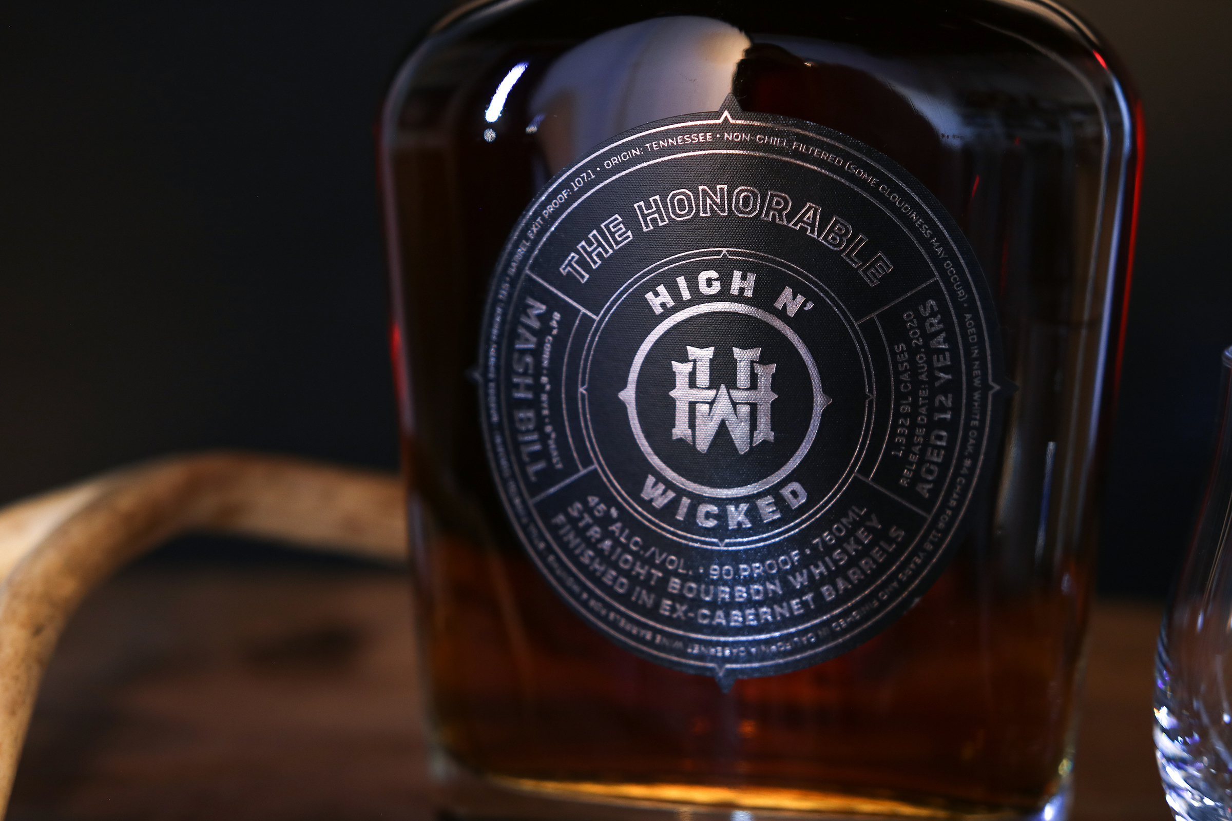 High N' Wicked Bourbon Whiskey Rugged Refinement by Watermark Design