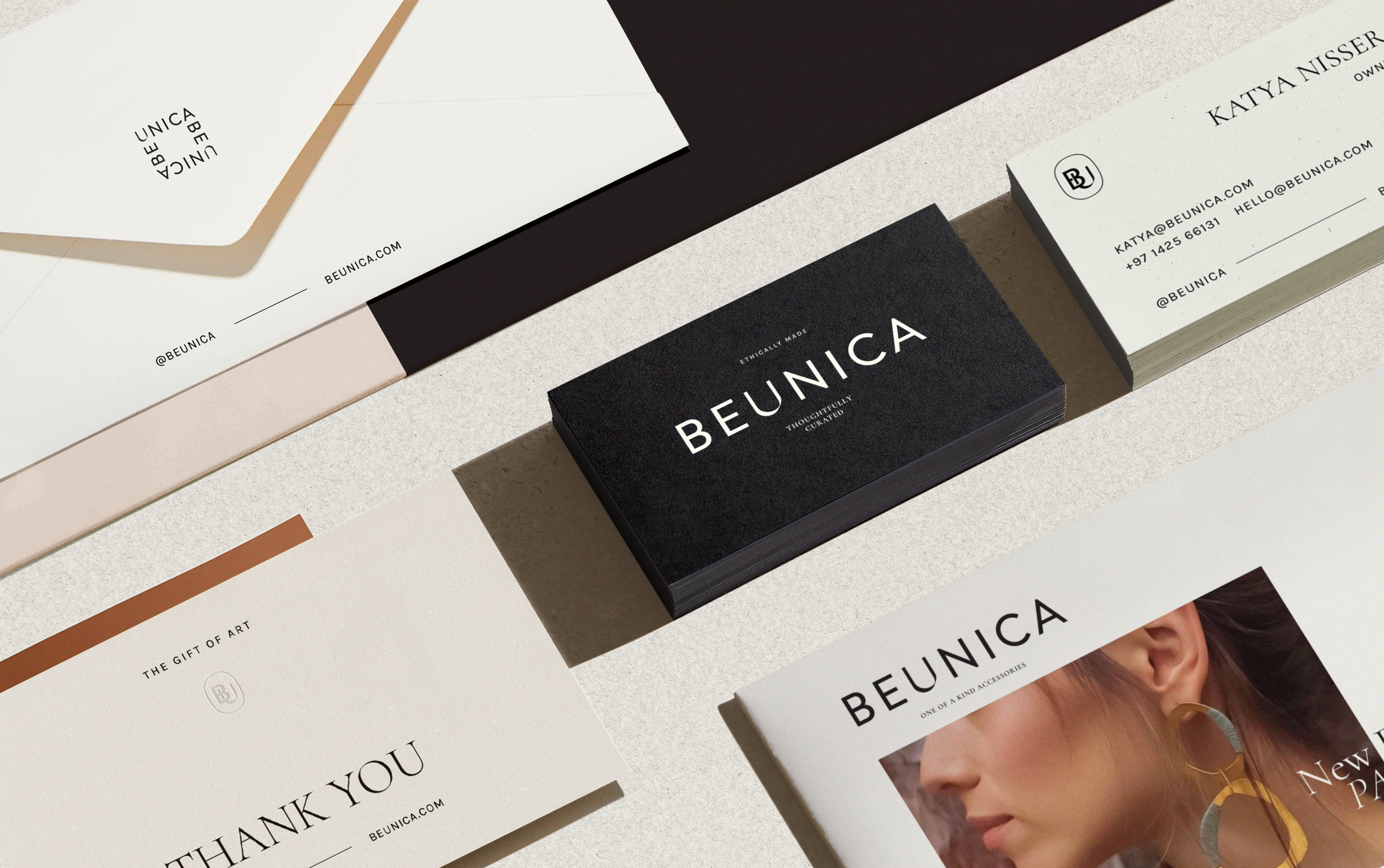 Visual Identity for Beaunica A Fashion Marketplace by Merillangie