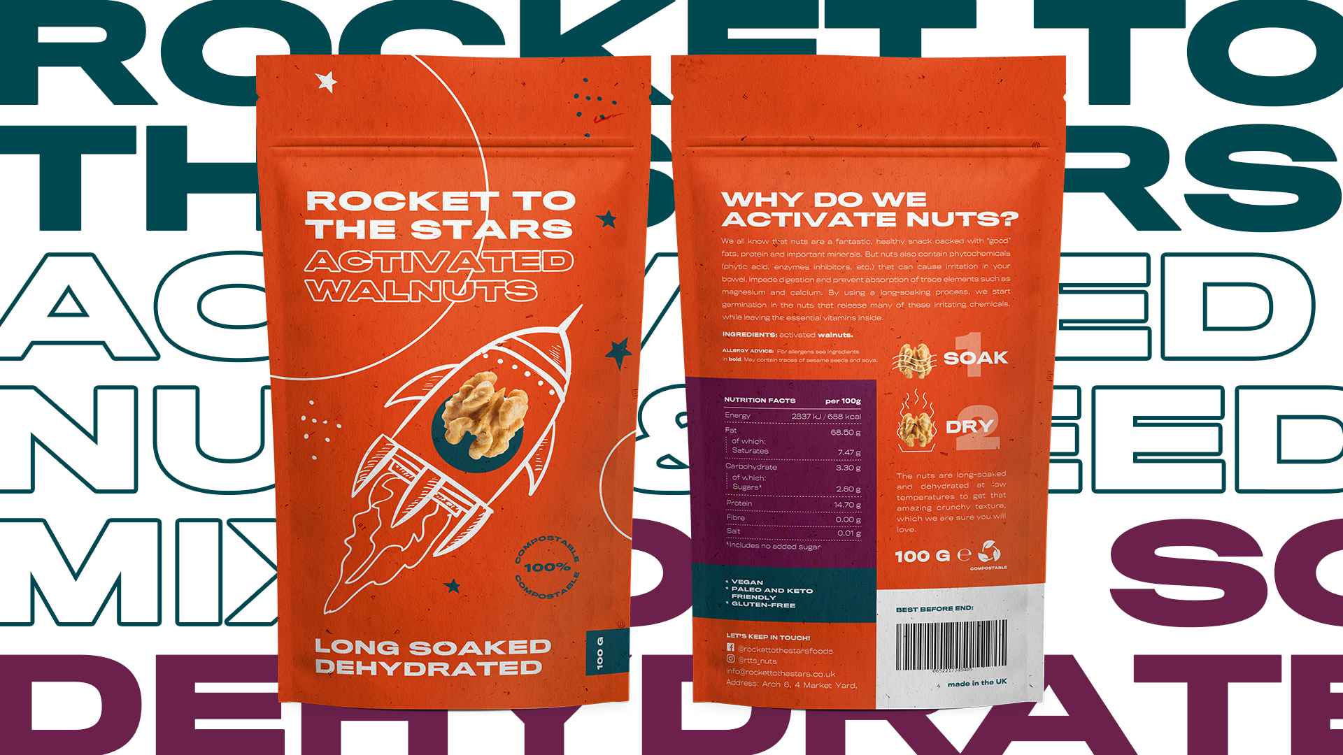 New Activated Nuts and Mixes Brand and Packaging Design for UK Market
