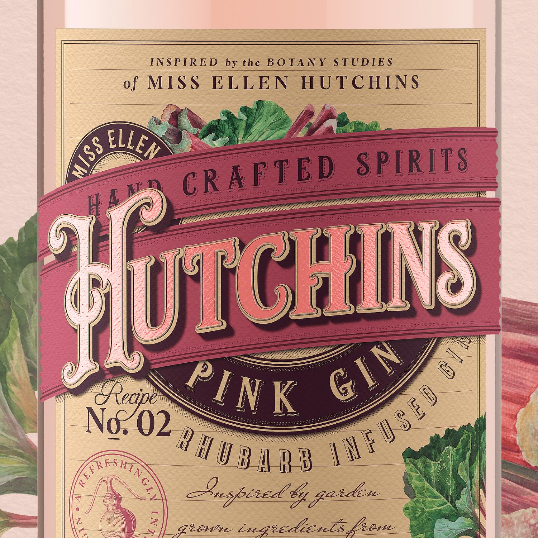 Branding and Packaging Design for Irish Hutchins Craft Irish Gin