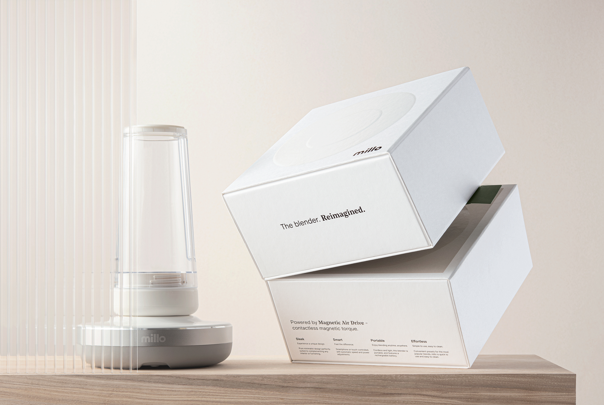 Recyclable Packaging Design for Future Technology Blender Design by Dziugas Valancauskas
