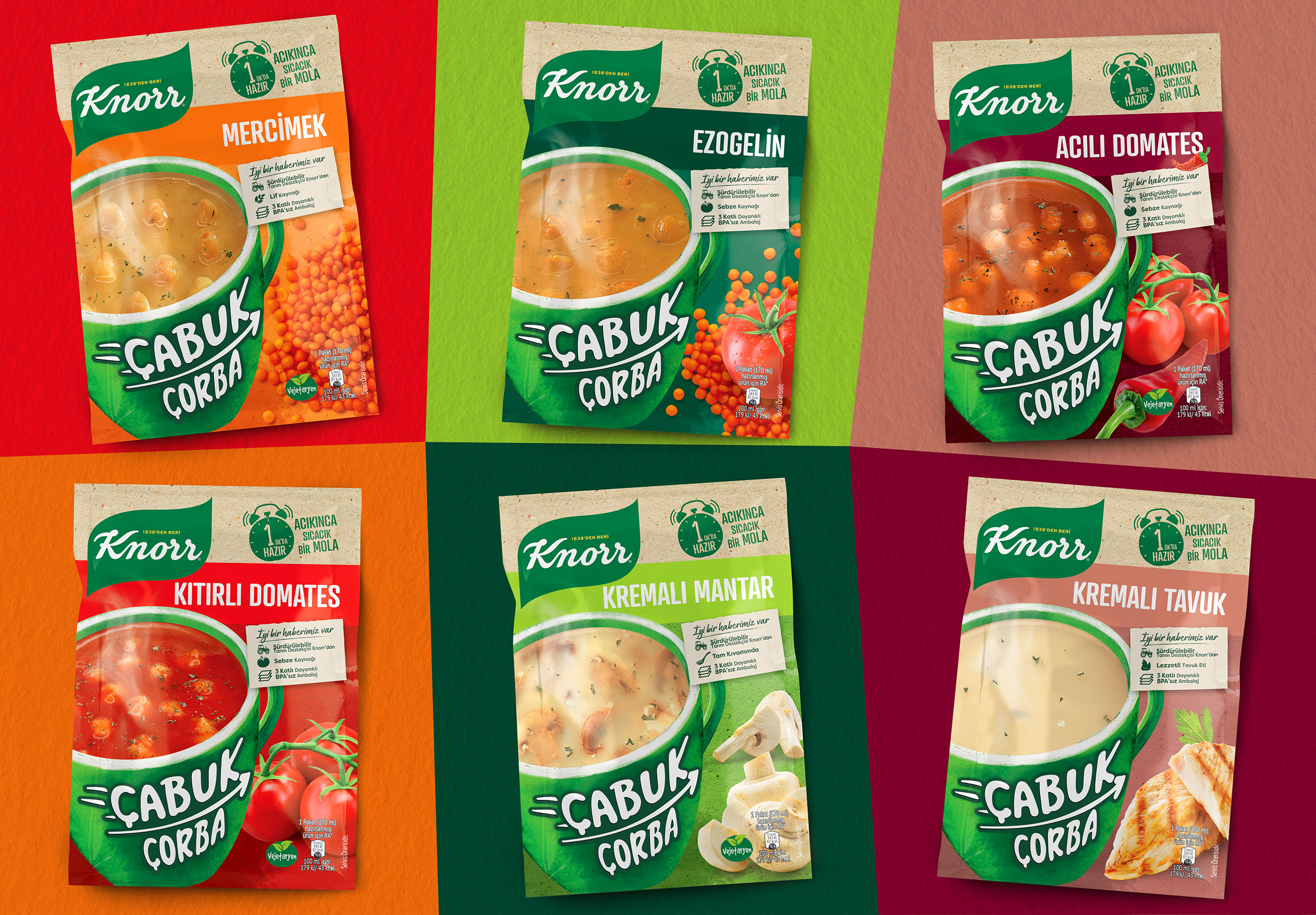 Knorr Instant Soup Packaging Design from Orhan Irmak Tasarim