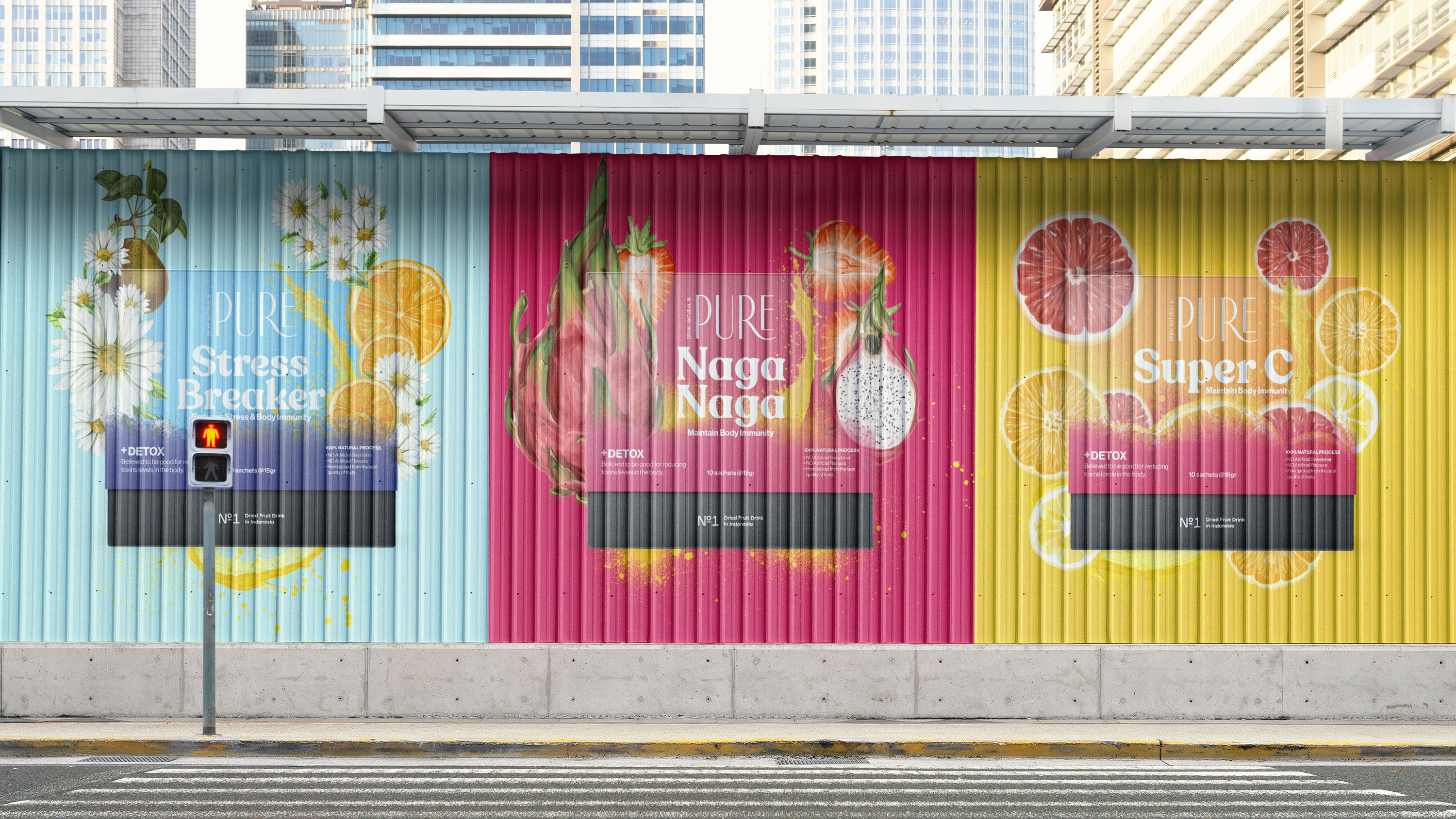 Pure Dried Fruits Packaging Design Range Created by Widarto Impact