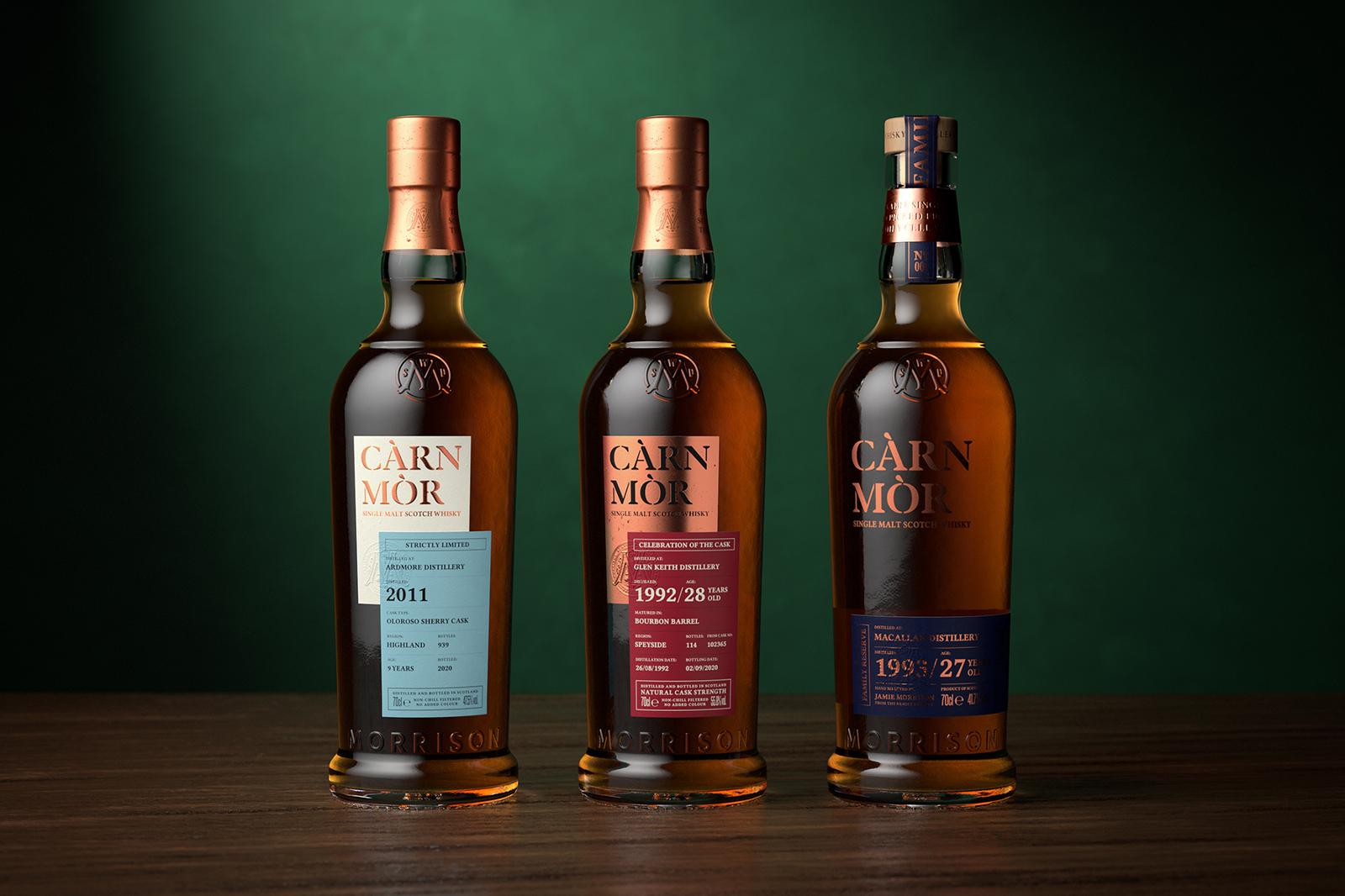 Single Malt Whisky Straight From The Cask by Càrn Mòr Designed by Thirst Craft