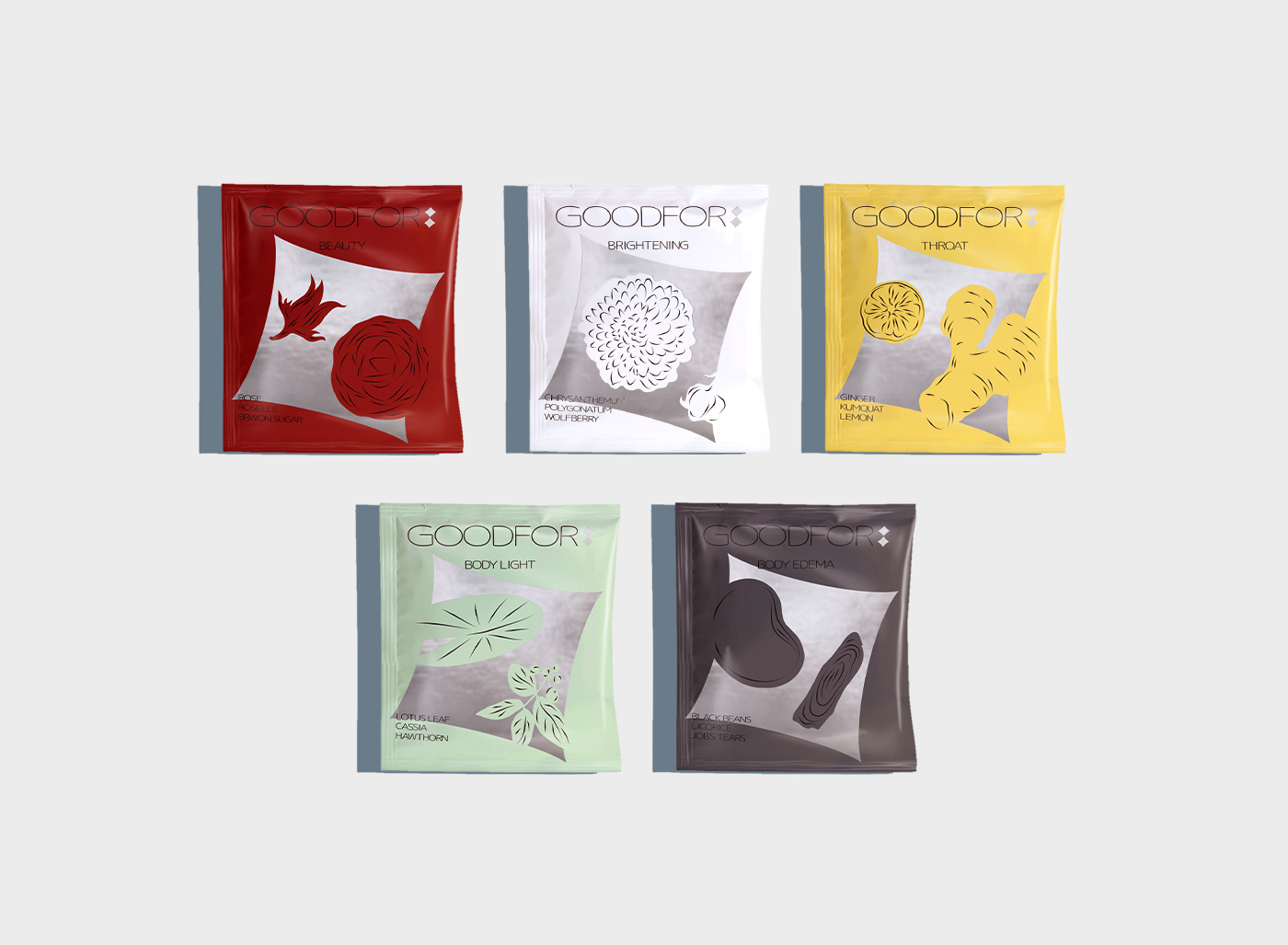 Lung Hao Chiang Creates Visual Identity Design Concept for Goodfor Chinese Herb Tea