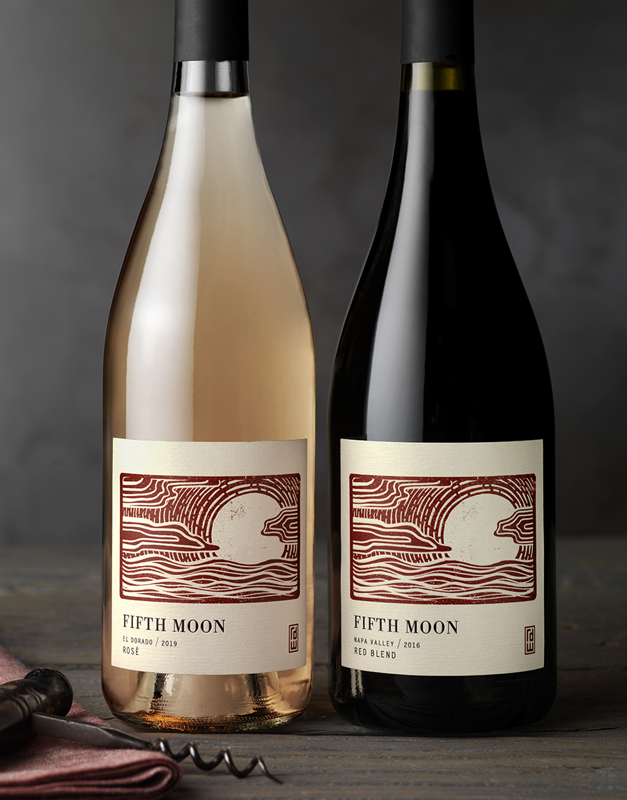 CF Napa Create Wood Illustrative Carving for Label for Vietnamese-Owned RD Winery