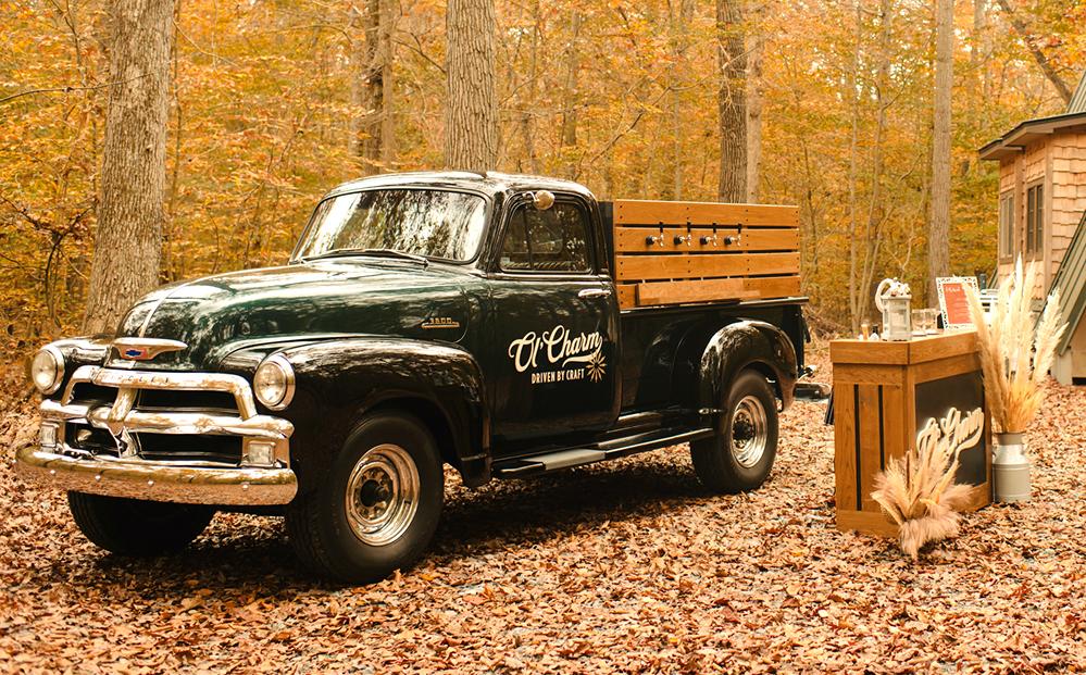 Ol' Charm Vintage Tap Truck Rental Services Branding by Lisa Gorham Creative