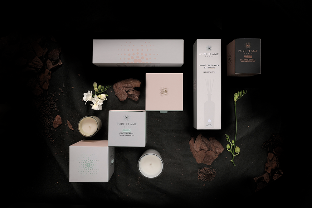 Brand and Packaging Design for Pure Flame Luxury Candles by Dominic Rios Sakalauskas