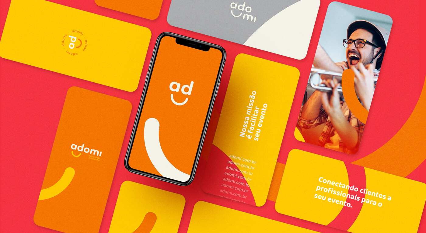 Visual Identity for Adomi Marketplace by Samuel Santos Design