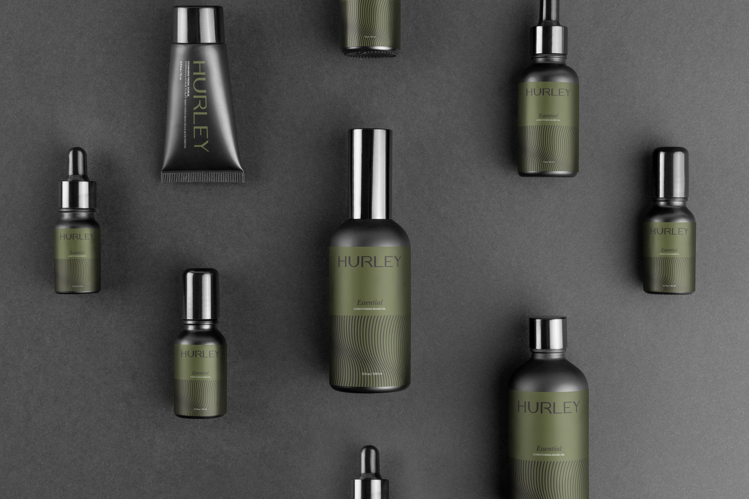 Hurley Beard Oil Brand Identity and Packaging Design by Widarto