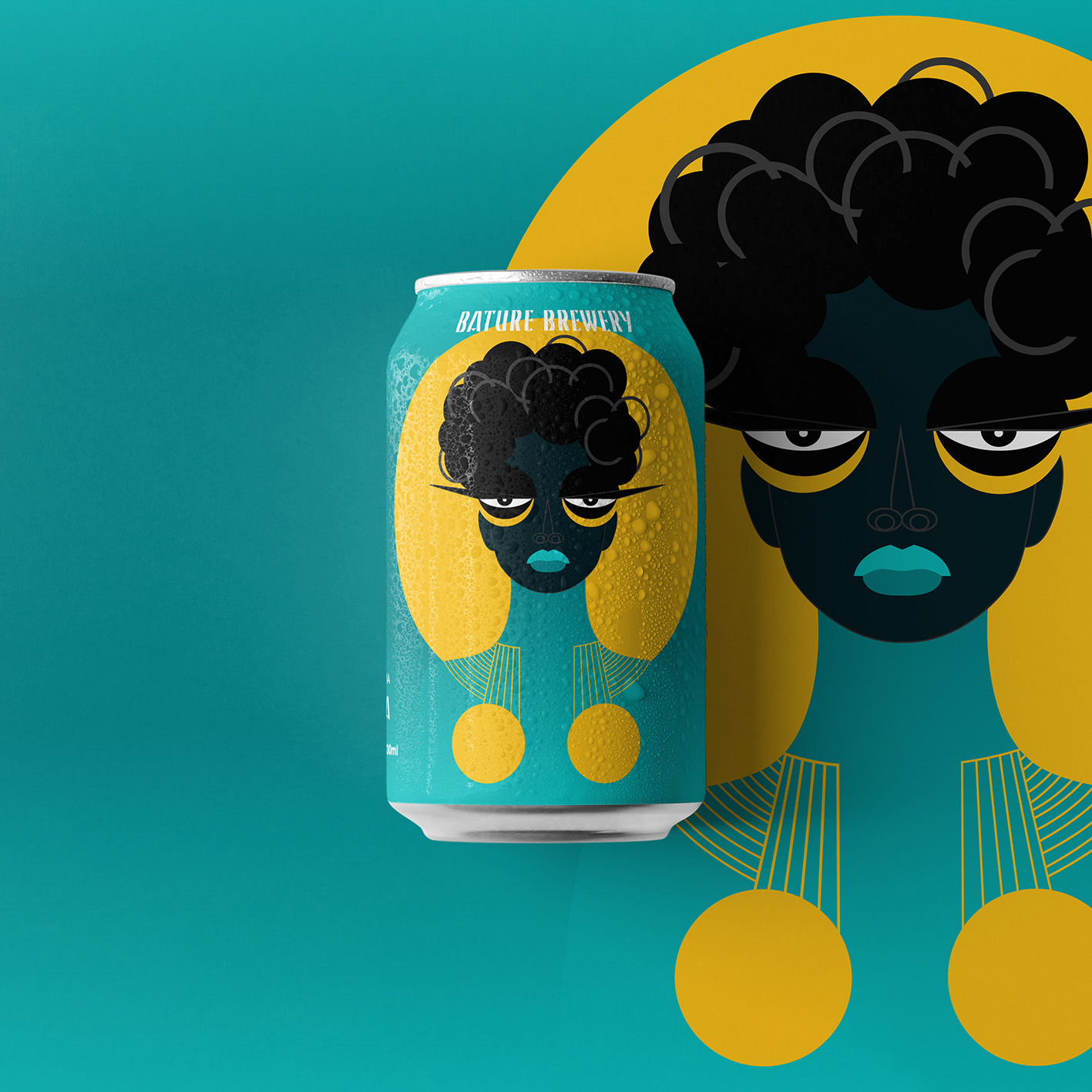 Lagos Brewery Bature Product Core Range Designed by Pim-Pam