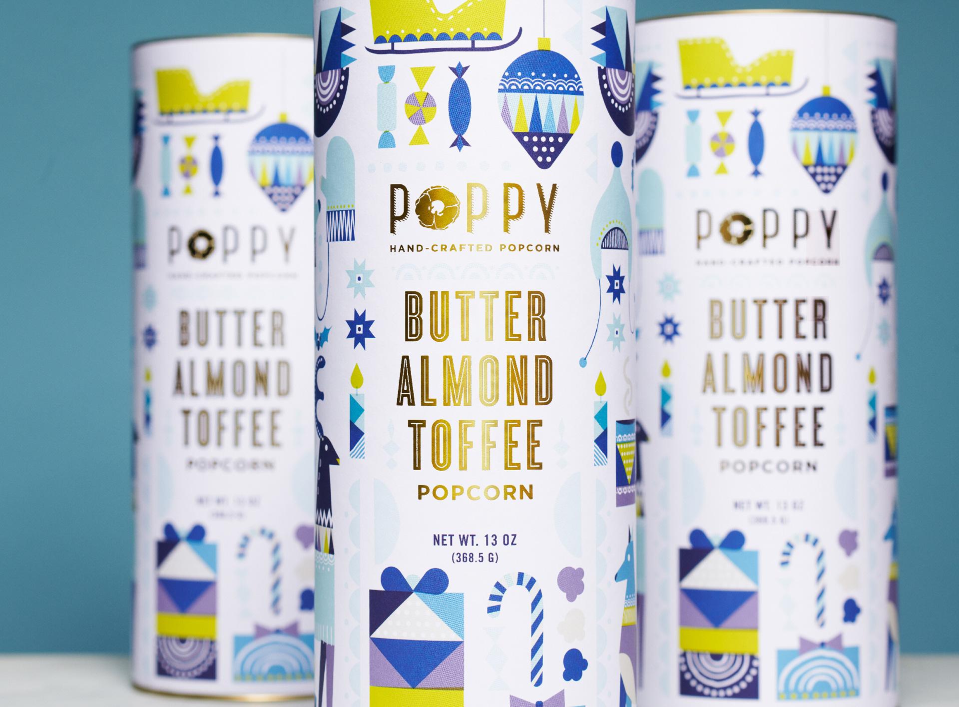 Atlas Branding Create Gourmet Popcorn Holiday Packaging Design