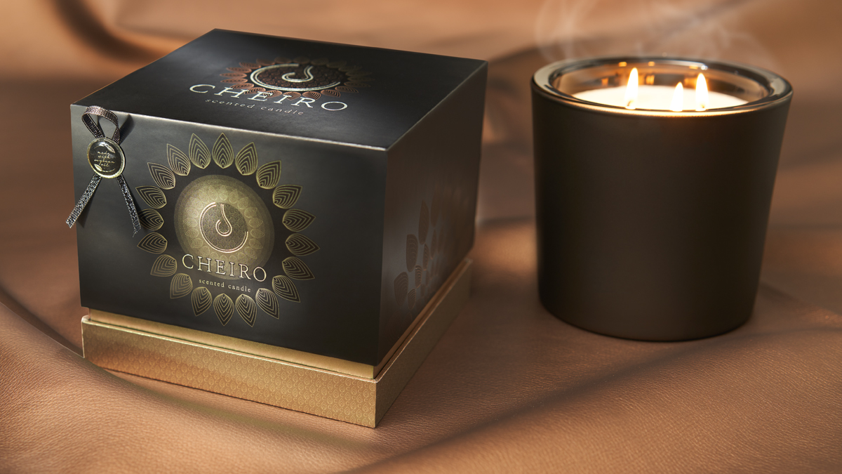 Concept for Candle Packaging Design Using Natural Mineral Powders