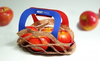 Nest Pack an Eco-Friendly Fruit Basket Concept by Jung Jo Hui
