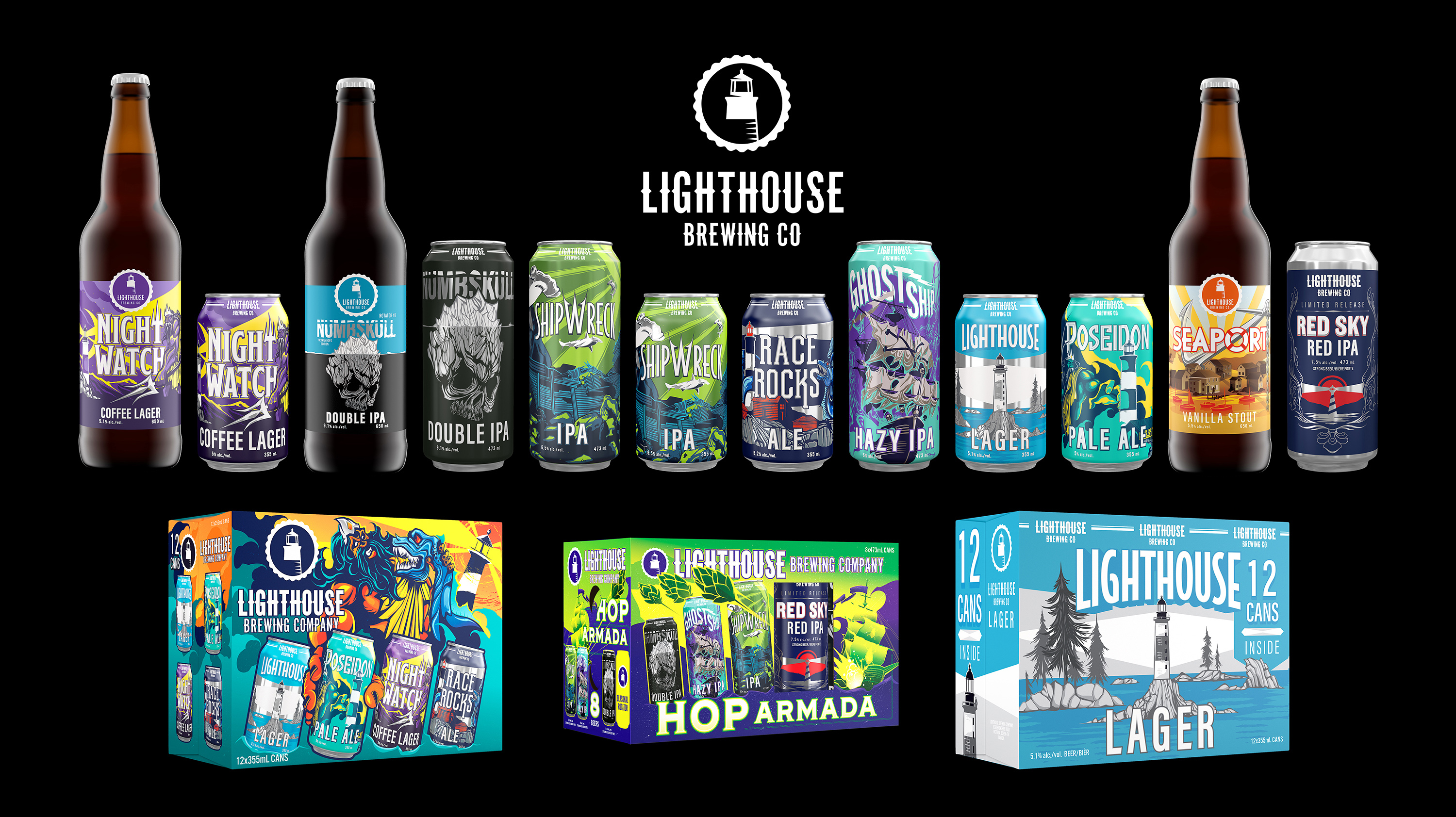 Hired Guns Creative Revamps Lighthouse Brewing's Packaging