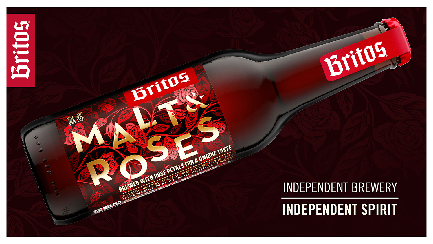Agence Monogram Design New Premium Beer Packaging Design for Malt and Roses