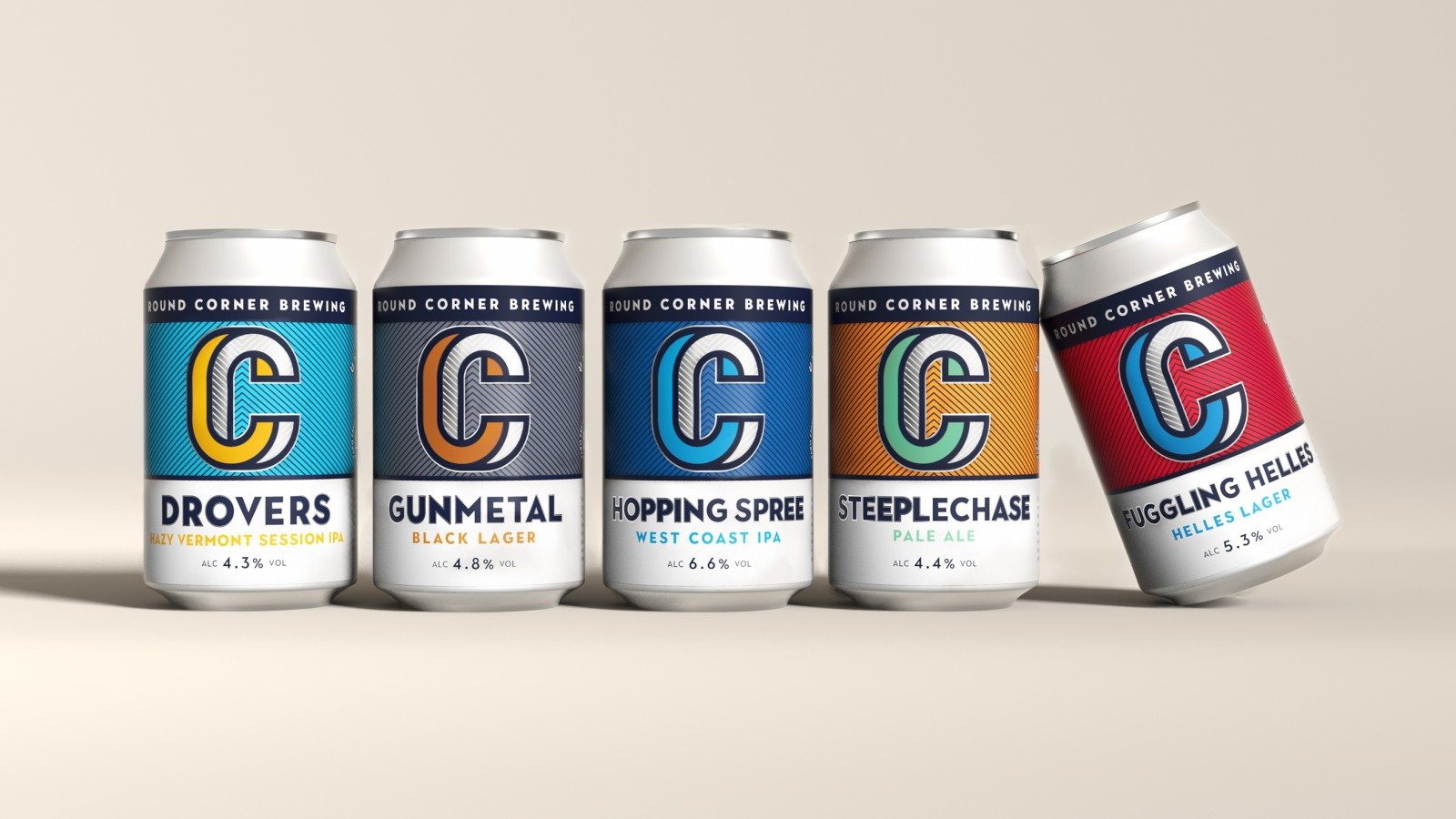 Quietly Studio Creates an Eye-Catching Packaging Design for Round Corner Brewing