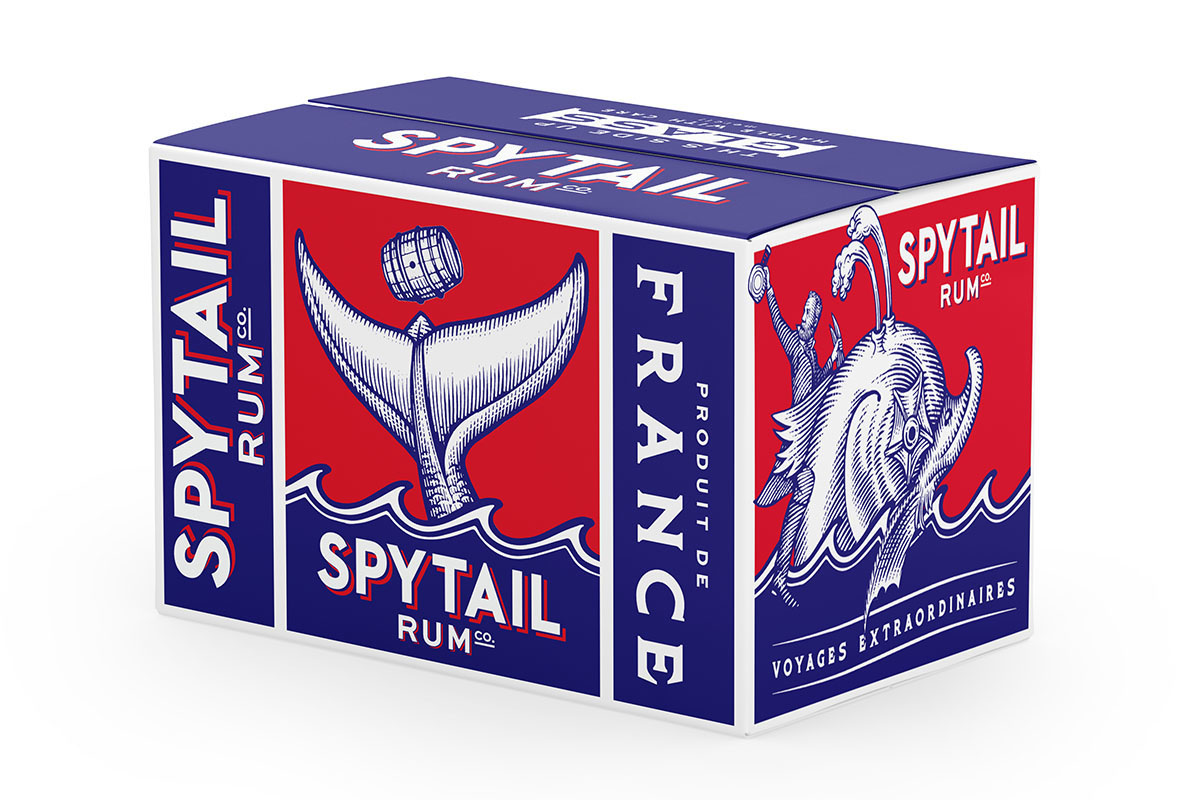 Spytail Rum Packaging Illustrated by Steven Noble