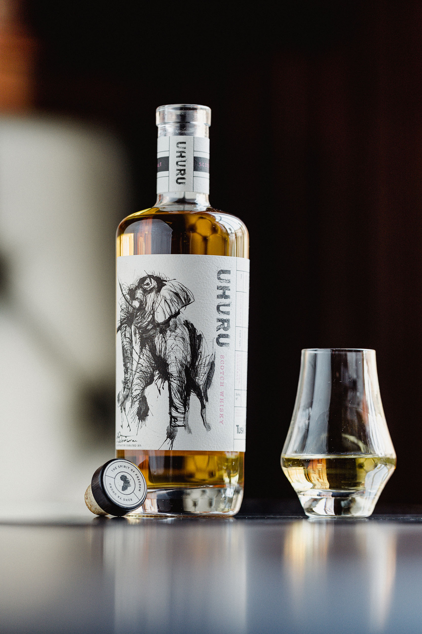 Threebrand Create Label for New Whisky Uhuru that Supports Conservation Charity
