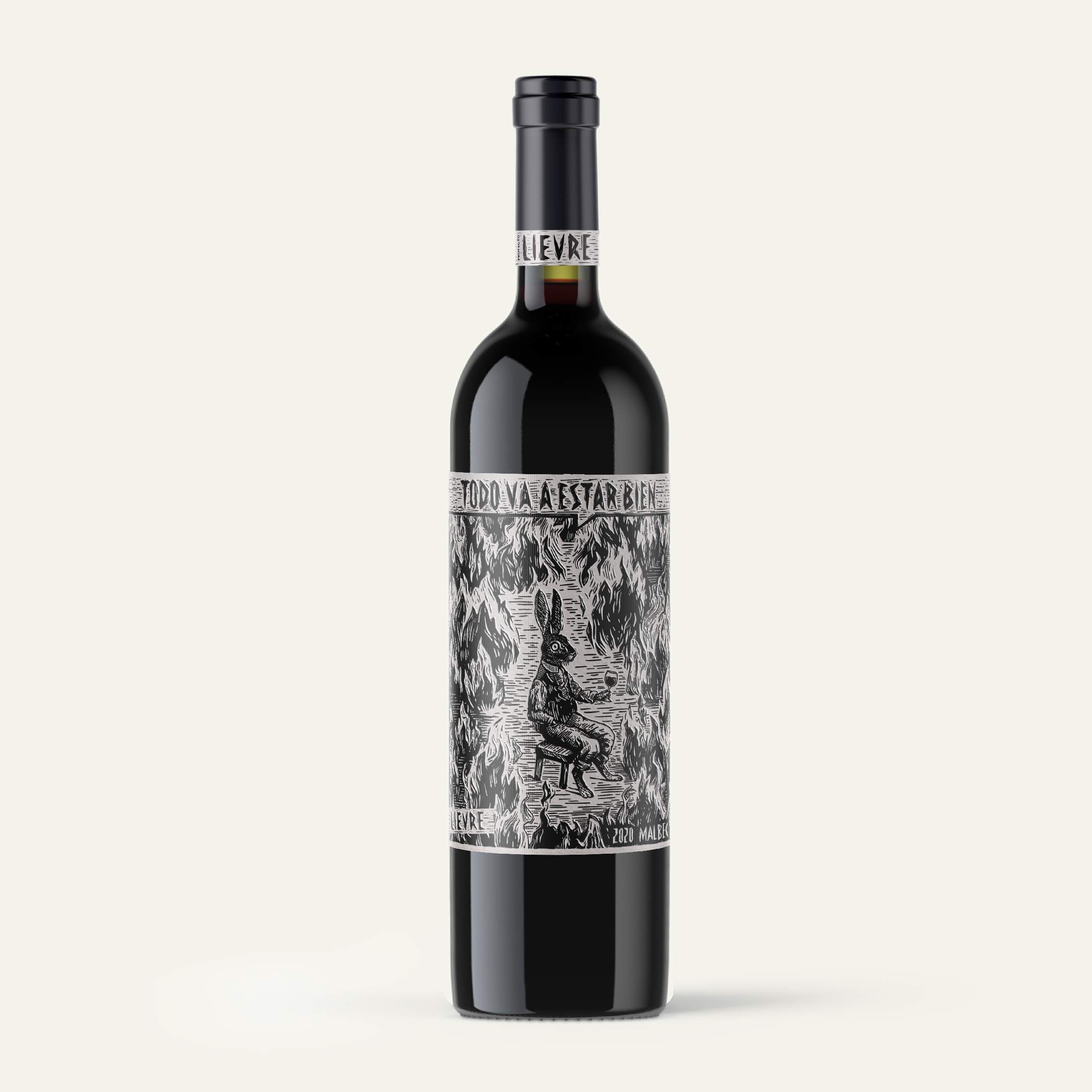 "Everything Will Be Fine – ""Todo Va a Estar Bien"" Wine Packaging Design by Ismael Figini"