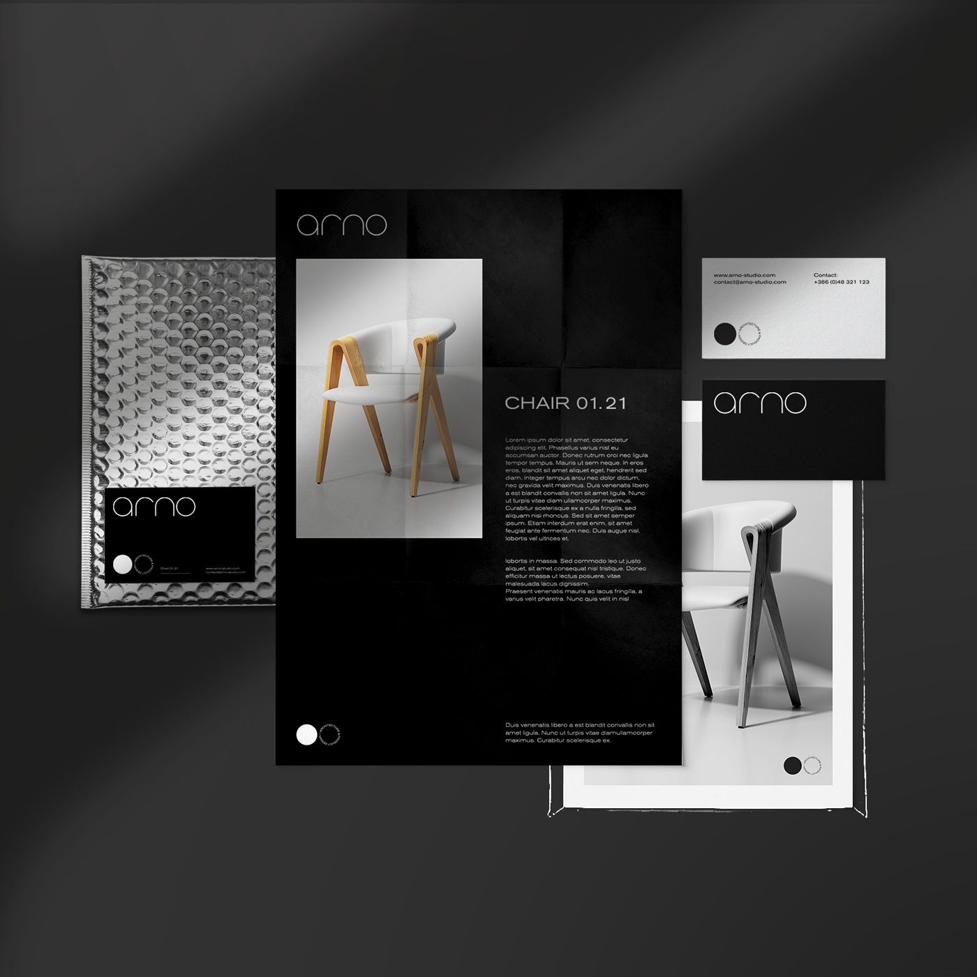Brand Development and Visual Identity Design for Arno Architecture and Product Design