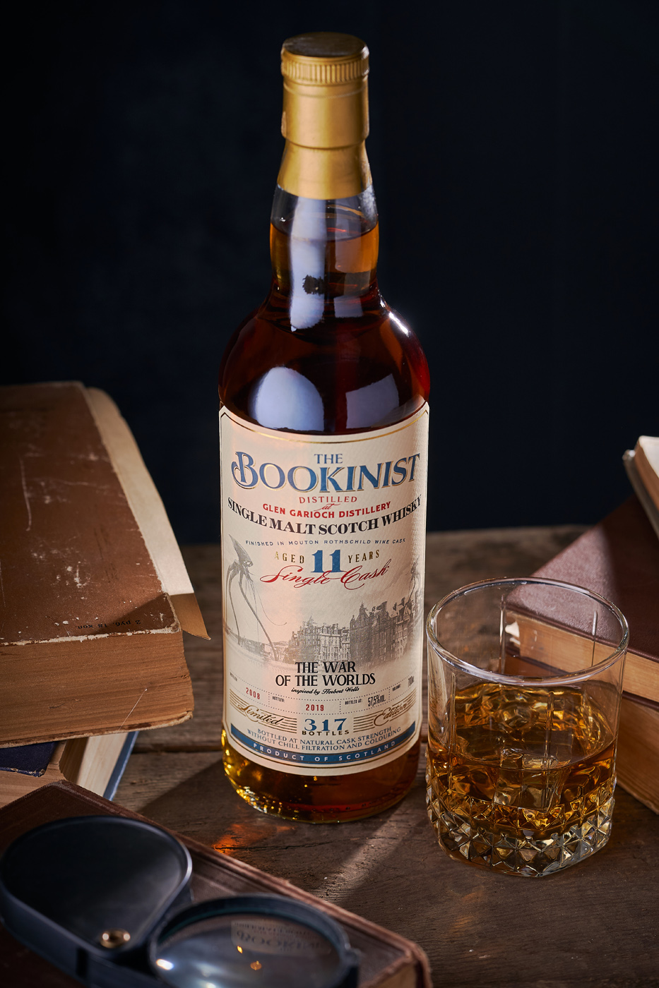 The Bookinist Collection Whiskey Label by 43oz Design Studio