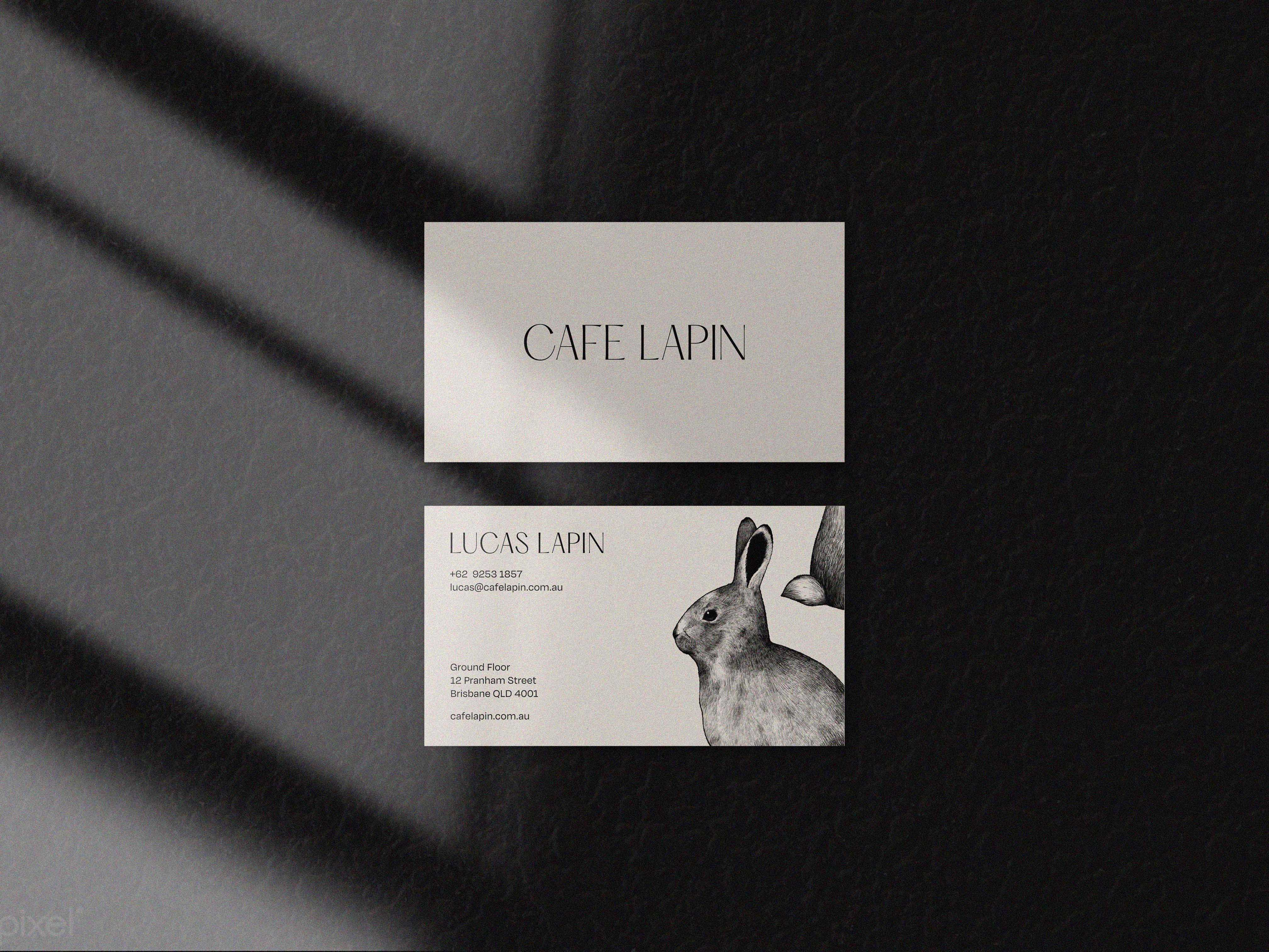 Cafe Lapin Branding for French-inspired Cafe Based in Australia by Oak Studio