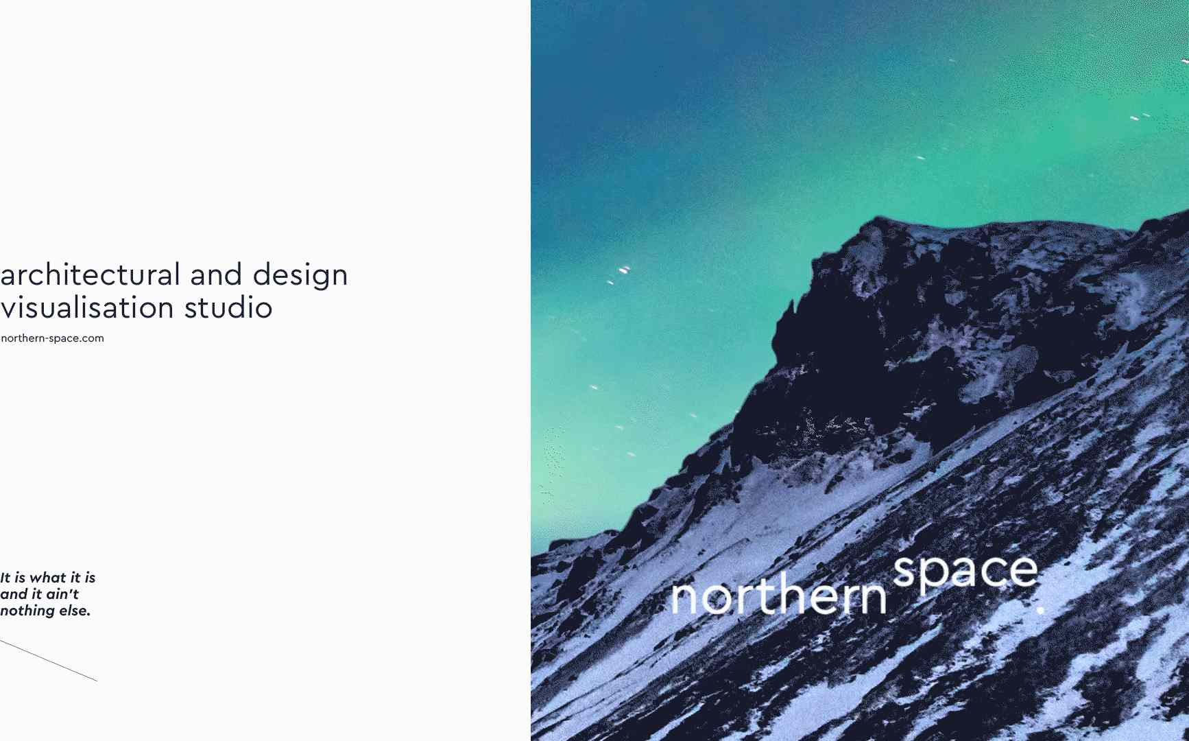 Brand Identity and the Website for Northern Space Designed by Voila Studio