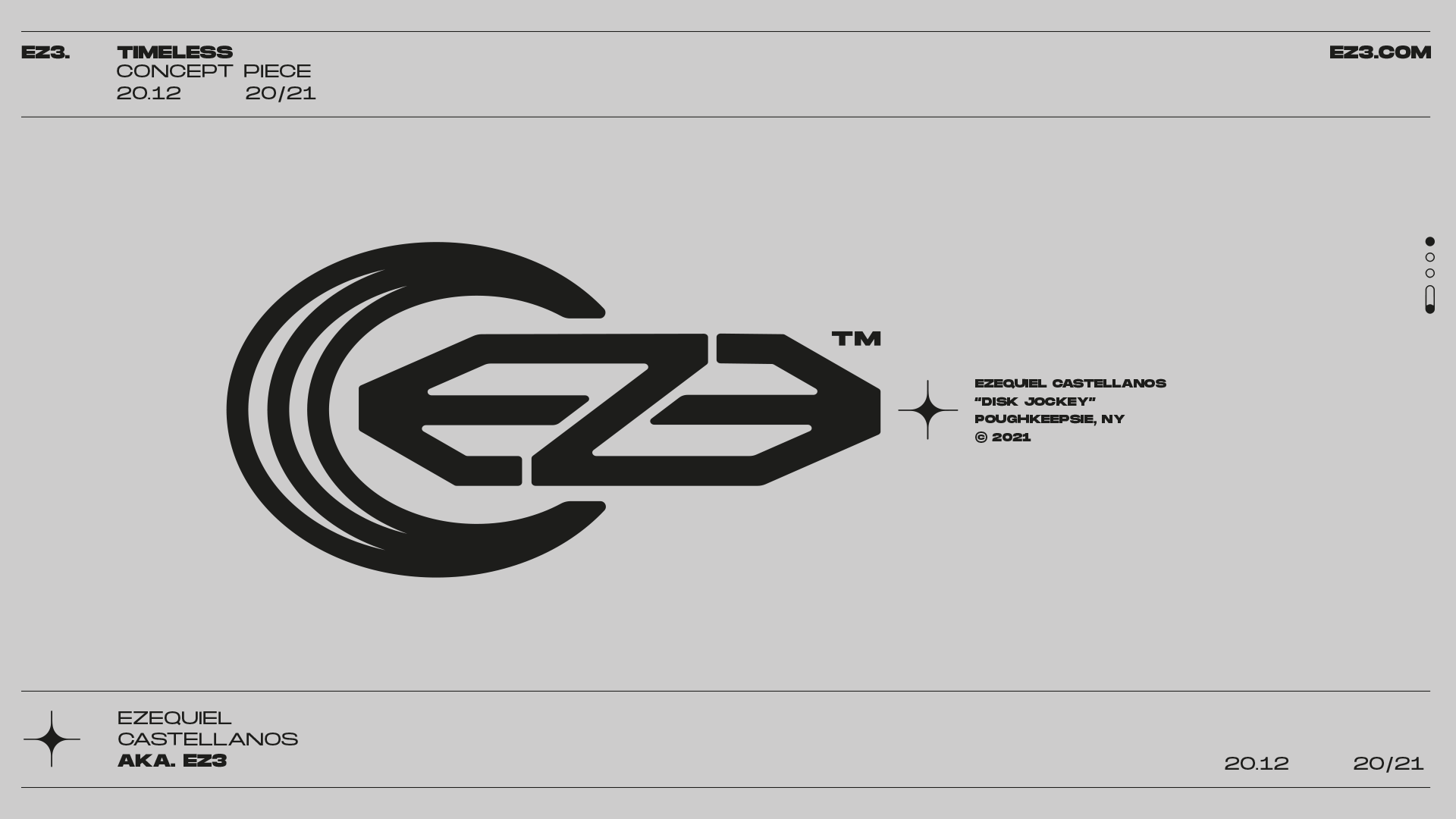 New Logo and Brand Identity for DJ EZ3 by Lucas Matheus