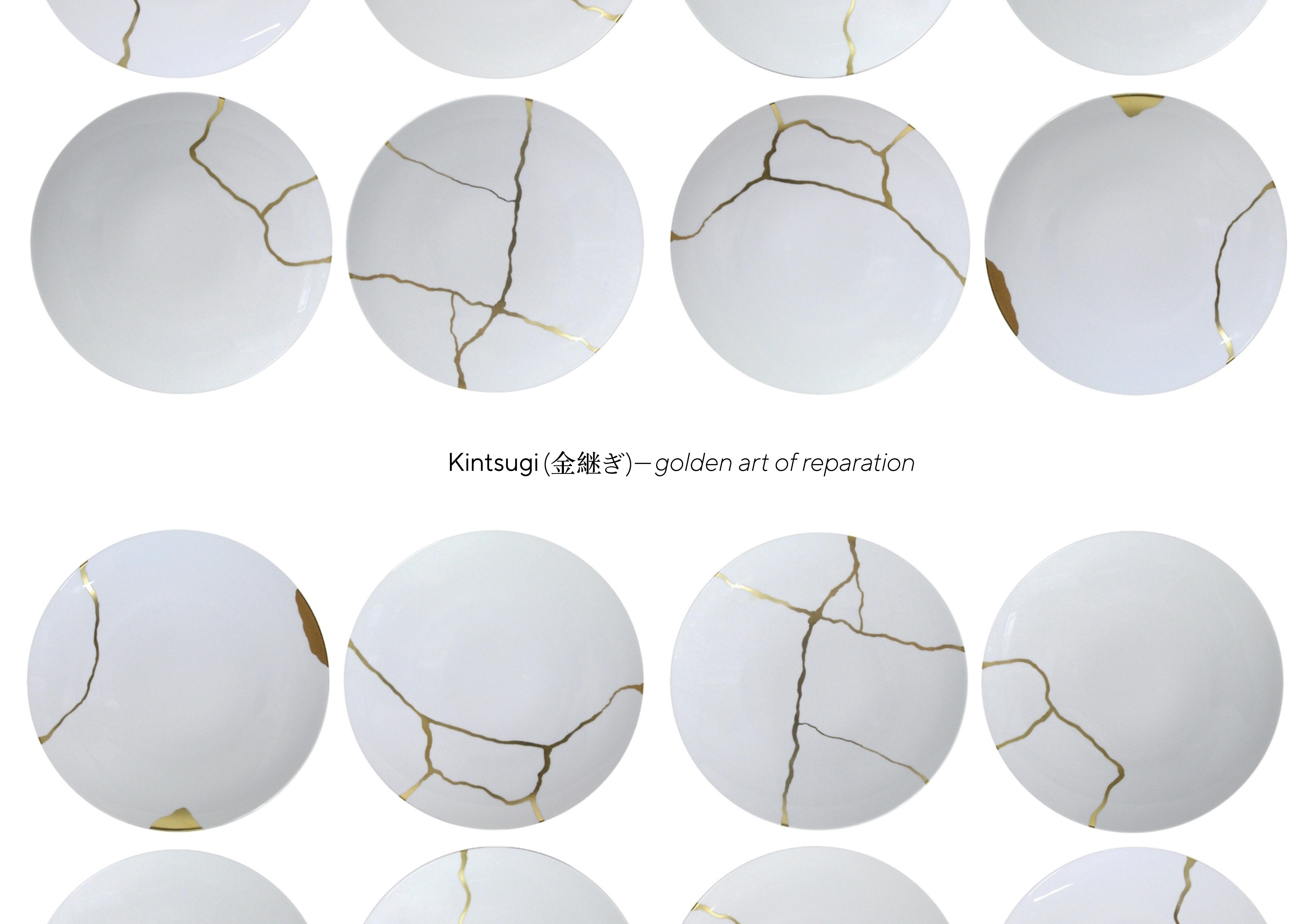 The Collection of Kintsugi Pottery Marumado Packaging Design by Mariia Pavlova
