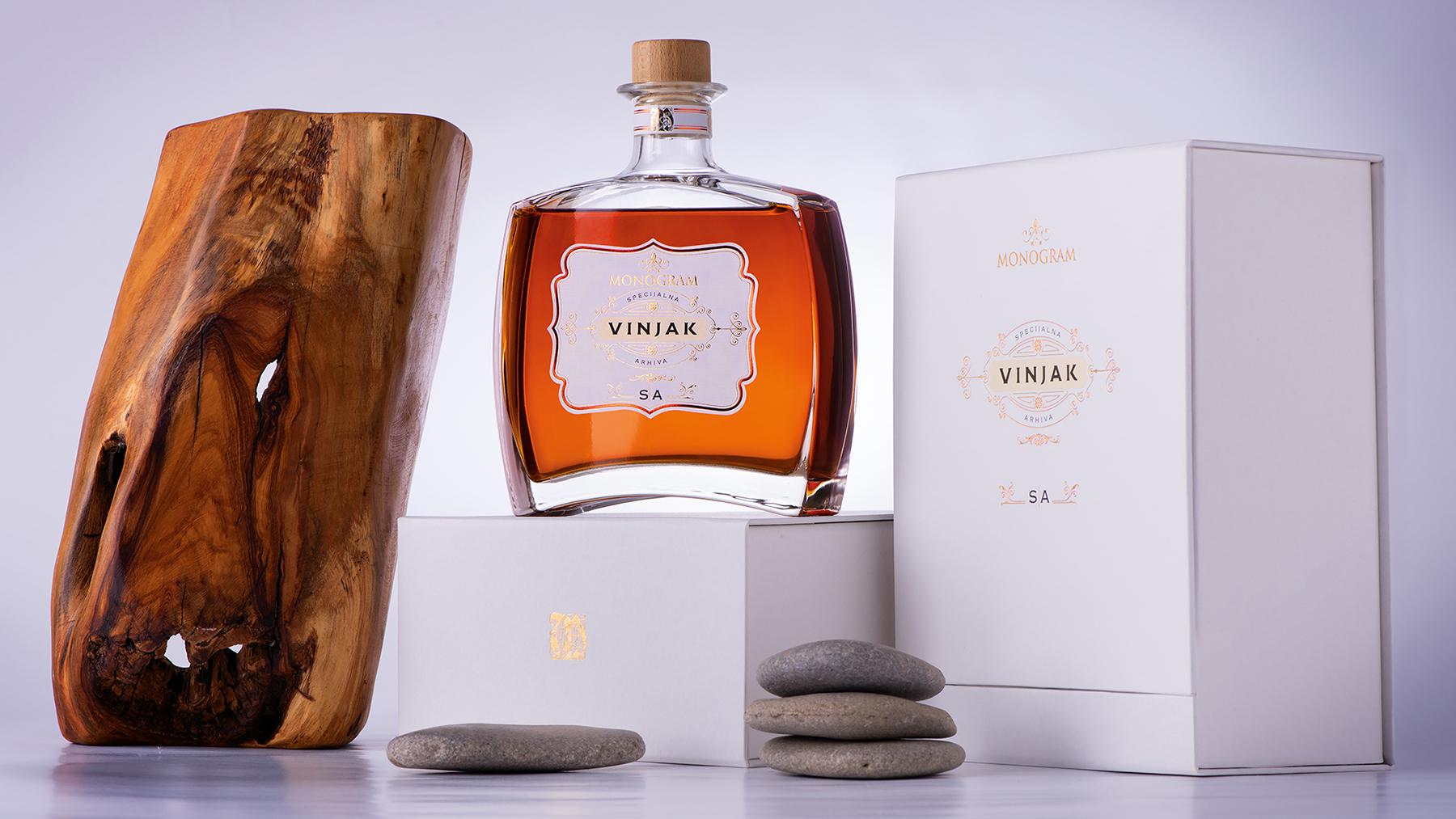 Monogram Brandy Gift of Nature Packaging Design