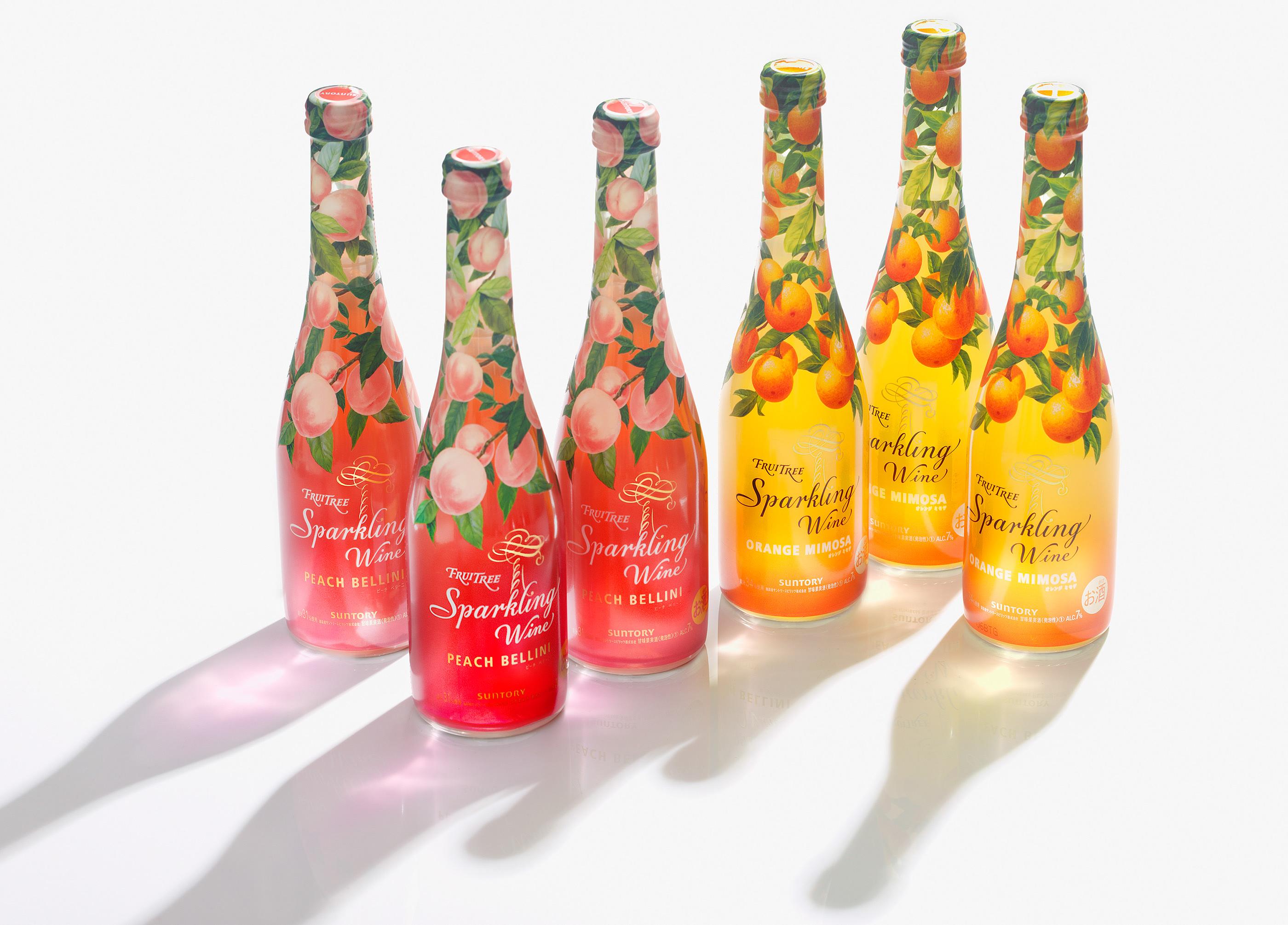 Fruittree Sparkling Wine Packaging Design by Yuko Takagi