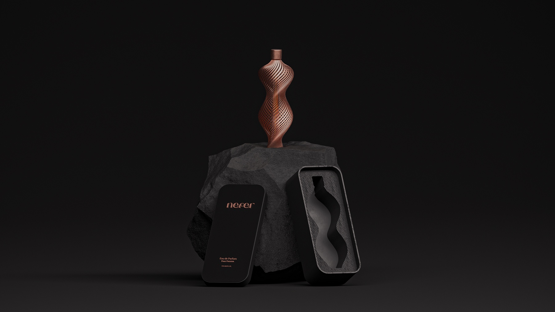 Nefer the Luxurious and Exclusive Perfume Bottle Design by Anas Belekhbizi and Amr Mousa