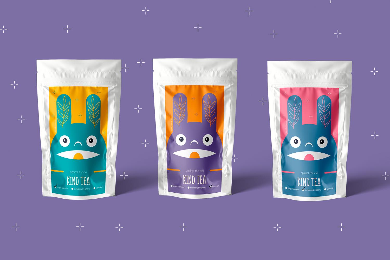 Wishnia Create Kind Tea Packaging Design