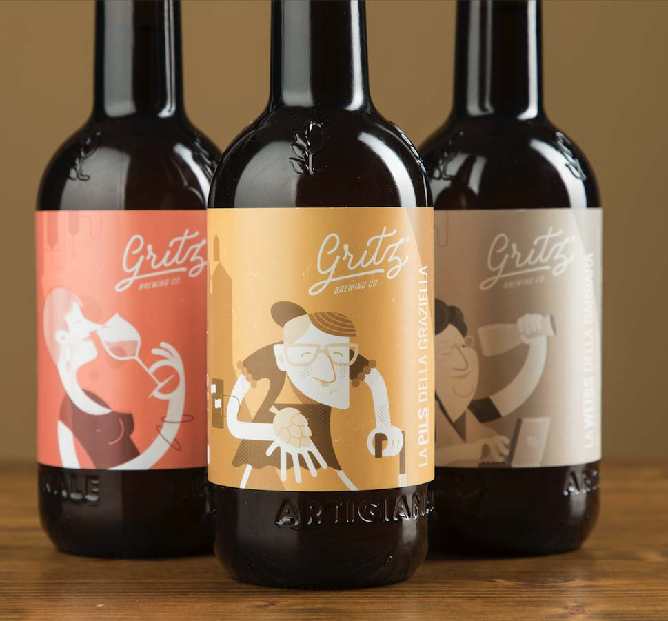Brand Identity and Website Design for a Italian Brewing Company Gritz