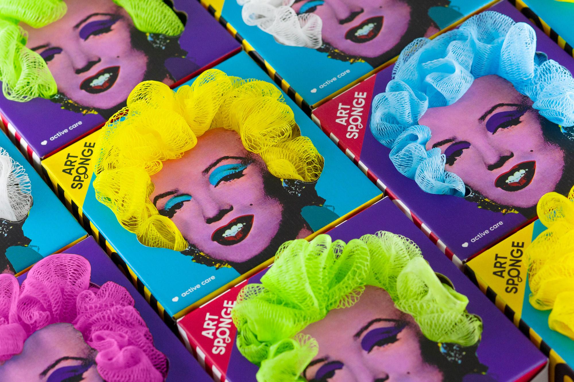 Creative Designer Gifts the Monroe Art Sponge Designed by Lesha Limonov and Mikhail Ananich